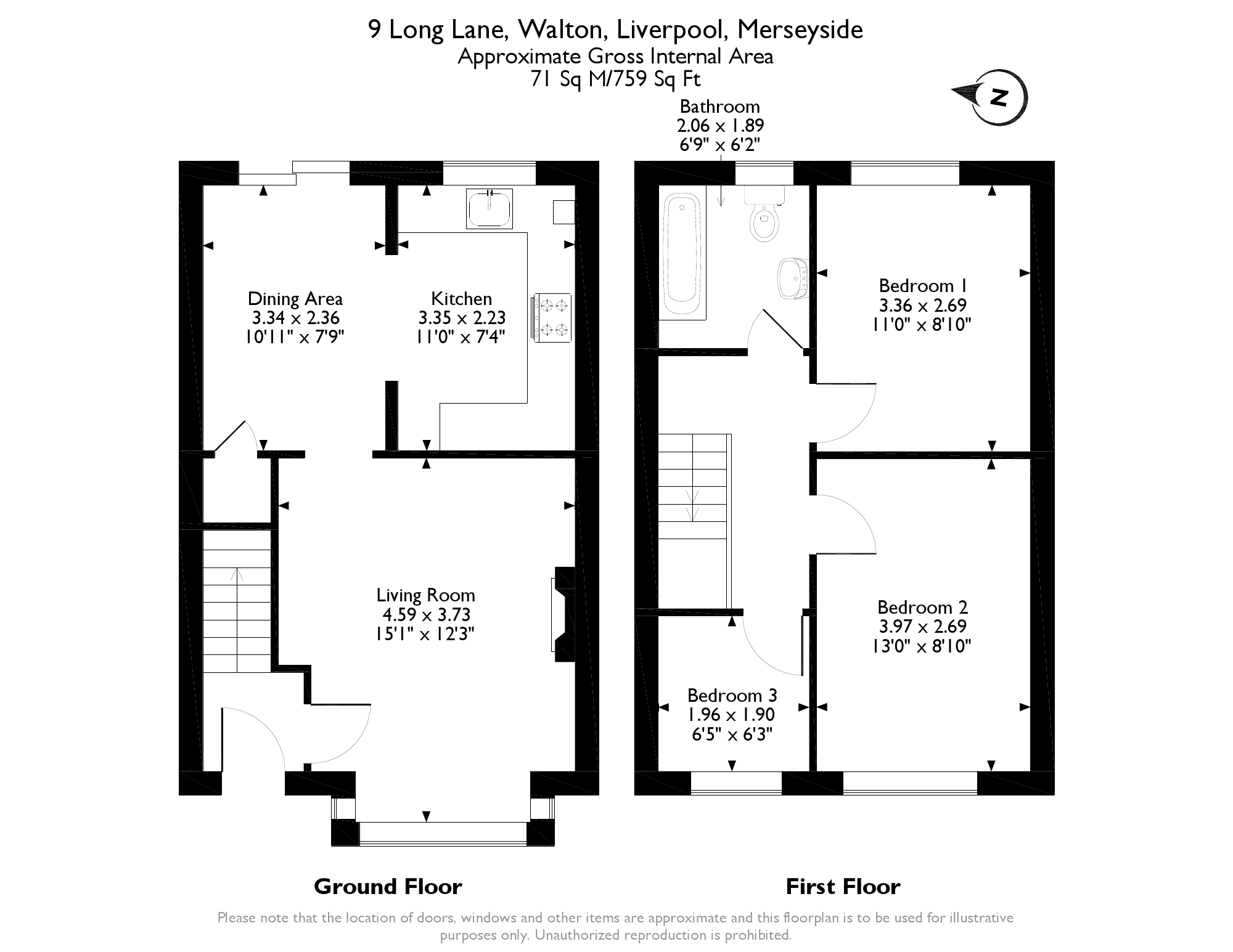 3 bed semi detached house for sale in long lane liverpool for Furniture 66 long lane liverpool