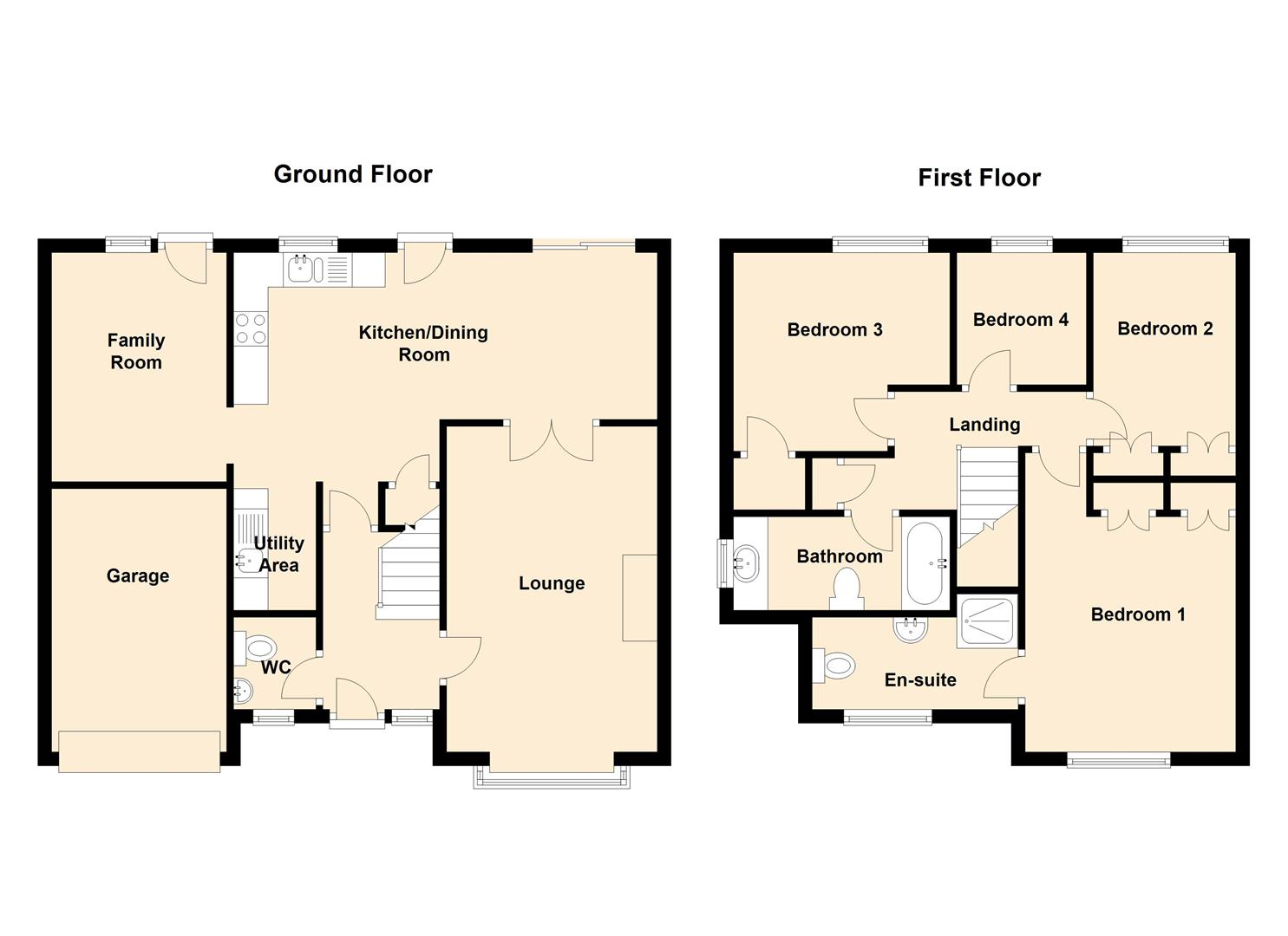 Windermere avenue ashby de la zouch le65 4 bedroom for Windemere homes floor plans