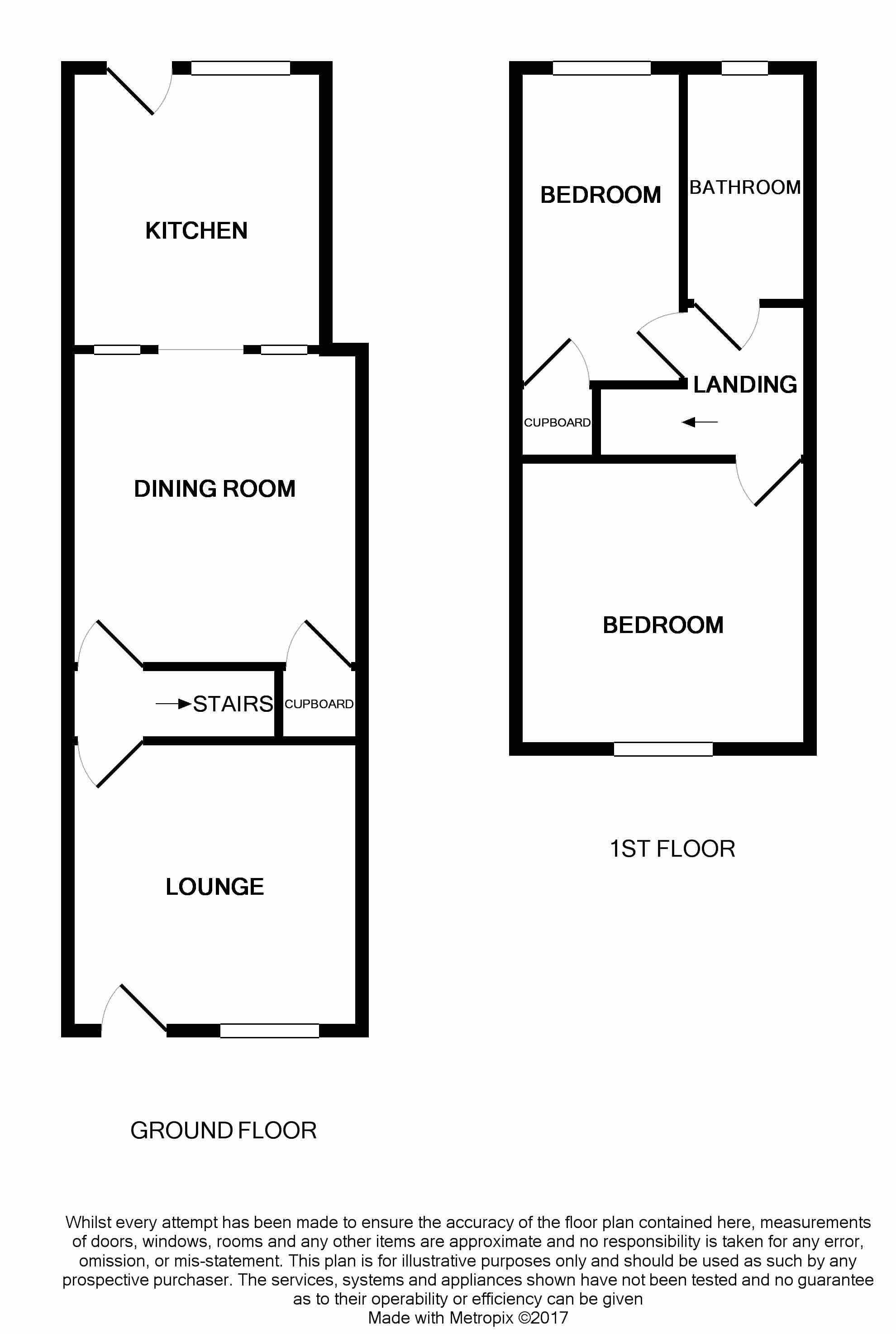 Church street louth ln11 2 bedroom terraced house for for Ron lee homes floor plans