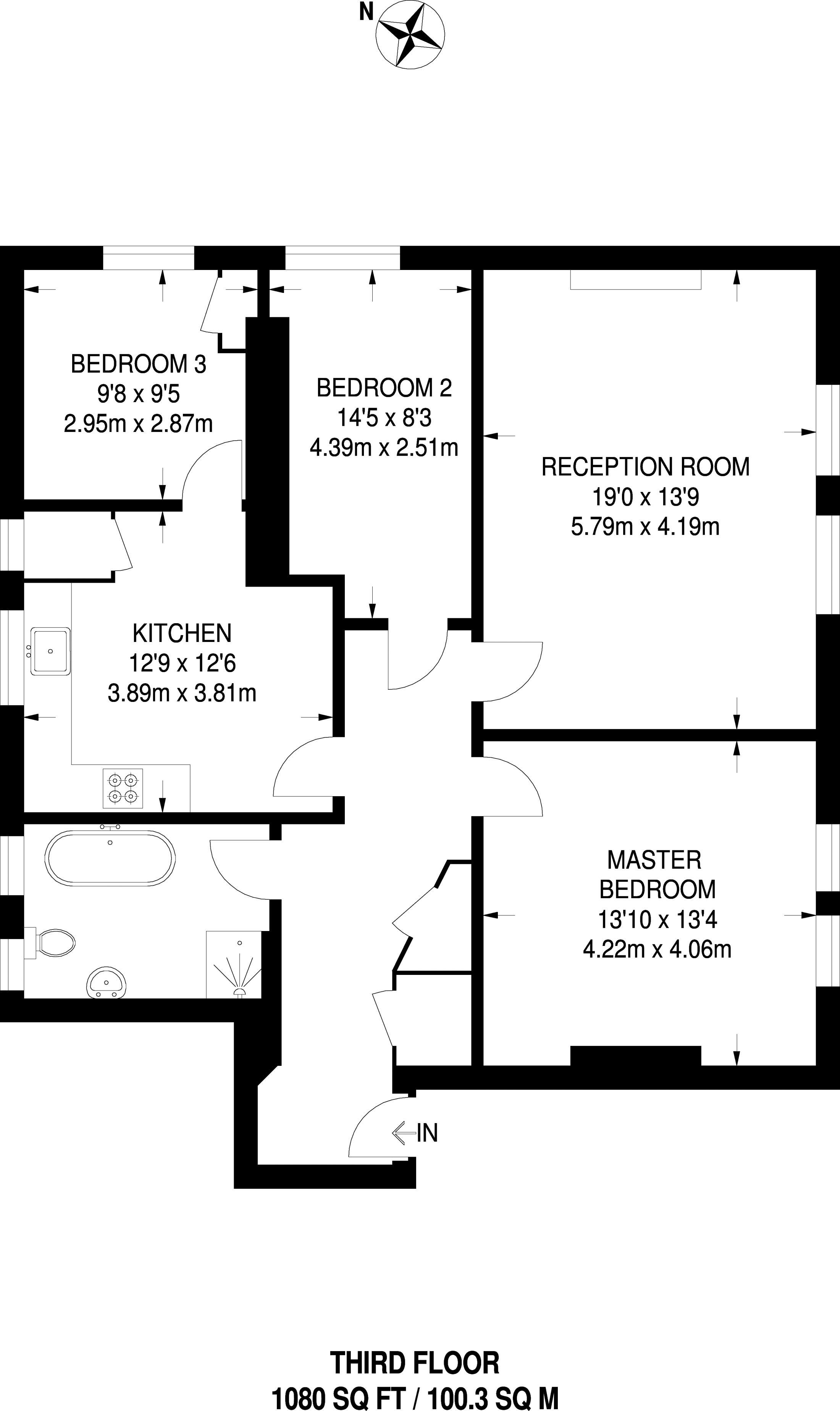 3 Bedrooms Flat to rent in Putney Heath Lane, Putney SW15