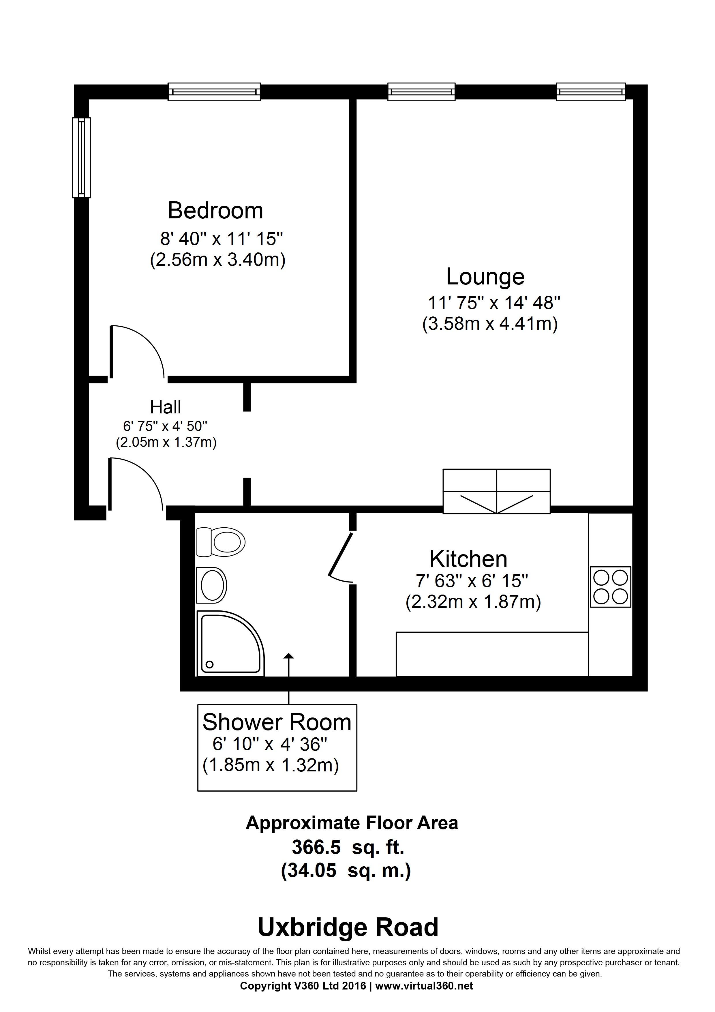 Uxbridge Road Shepherd S Bush W12 1 Bedroom Flat For