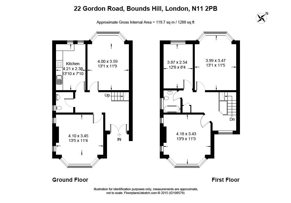 3 Bedrooms Semi-detached house to rent in Gordon Road, London N11