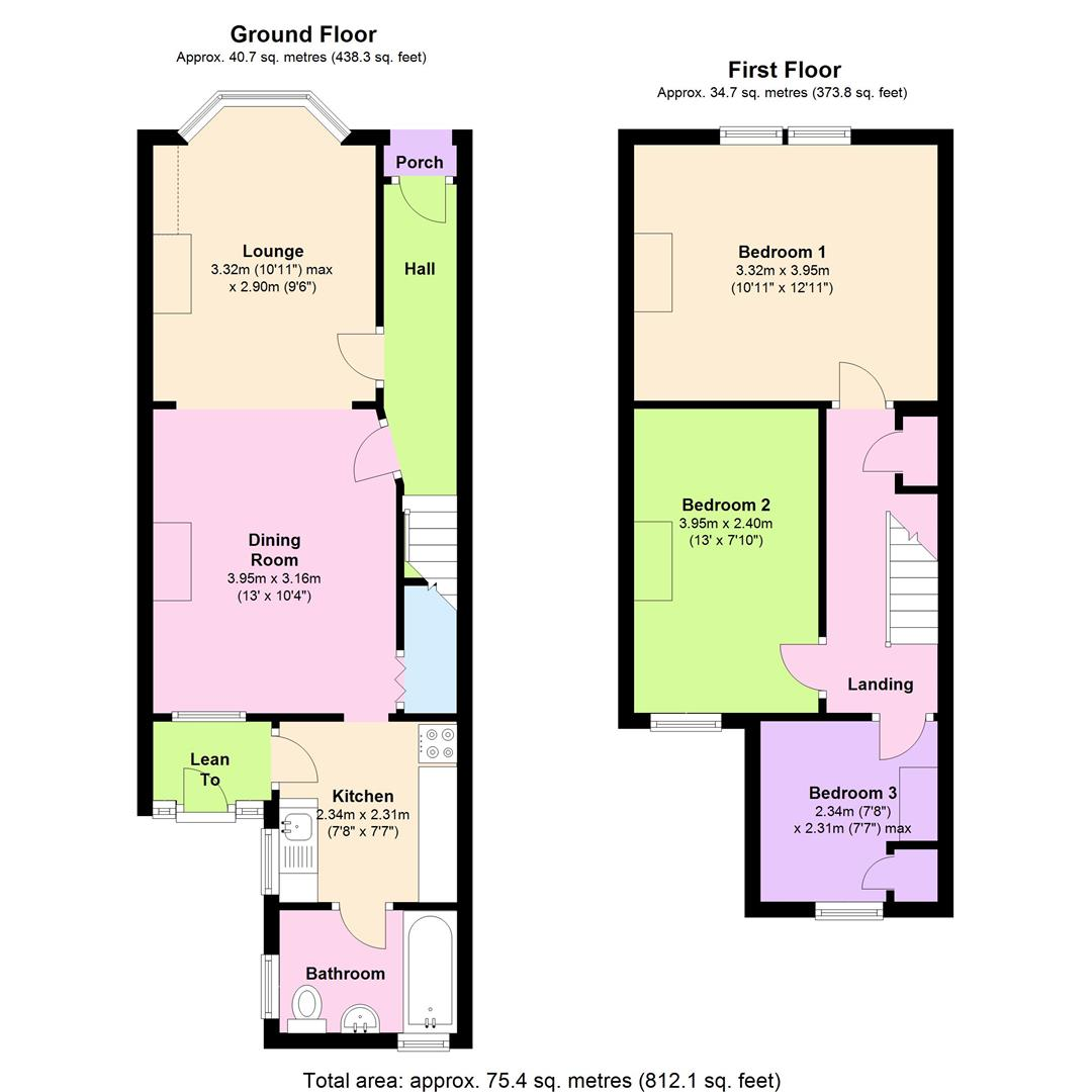 Prince of wales avenue reading rg30 3 bedroom terraced for Reading a floor plan