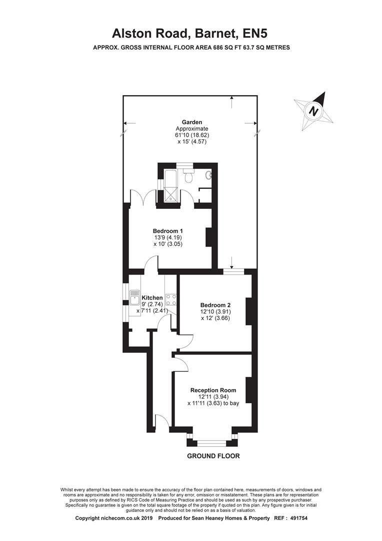 Alston Road, High Barnet, Barnet EN5, 2 bedroom flat for