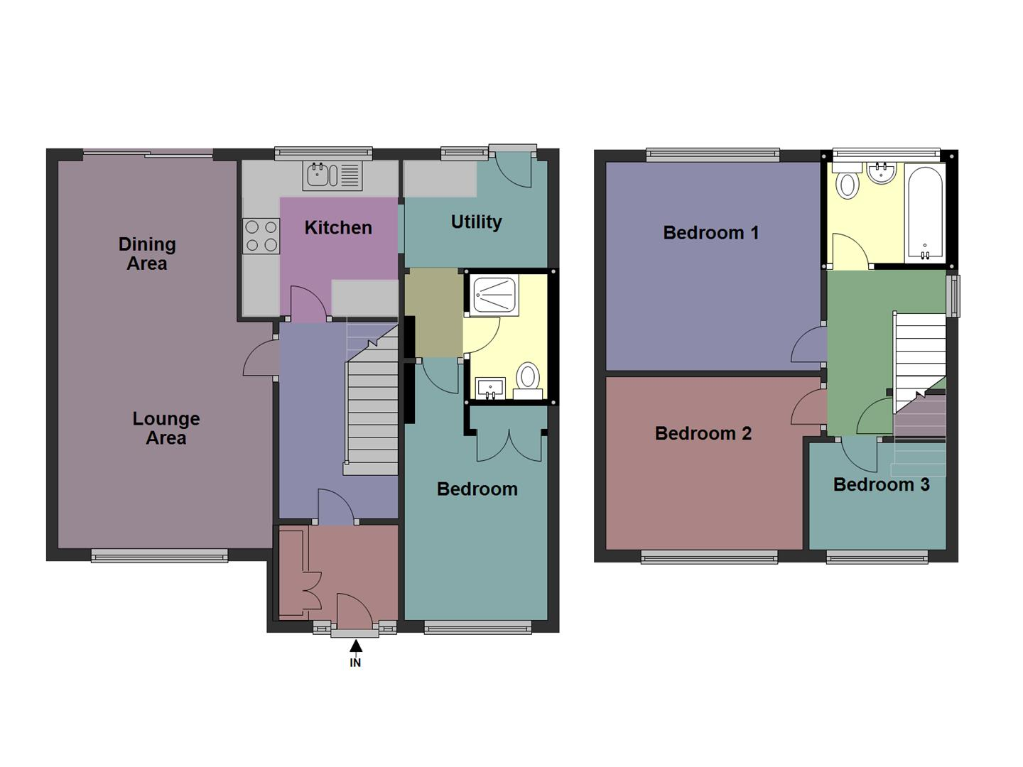 Marlborough drive stourport on severn dy13 3 bedroom for Marlborough house floor plan