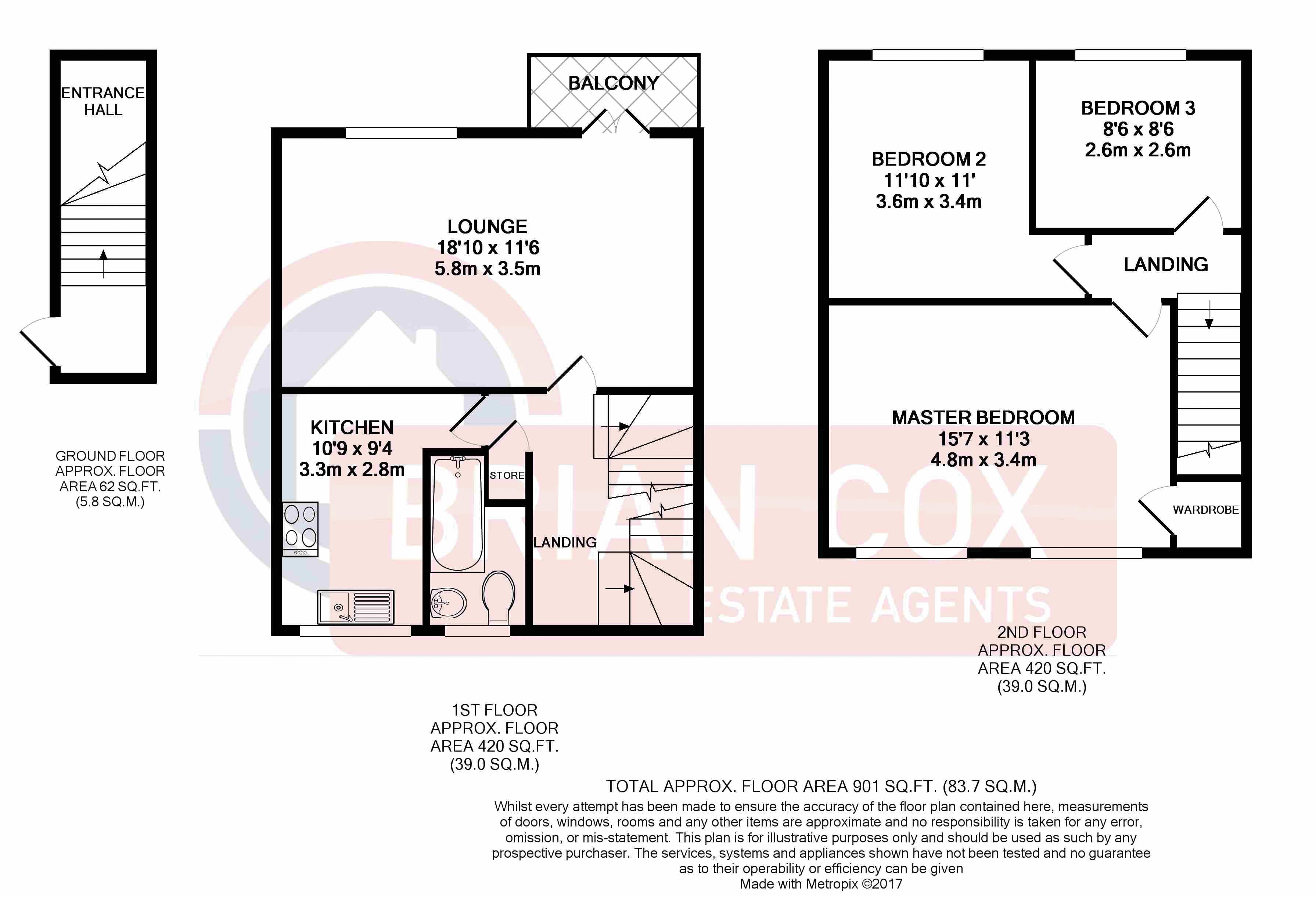 3 bedroom maisonette for sale 45856280 primelocation for Maisonette plans