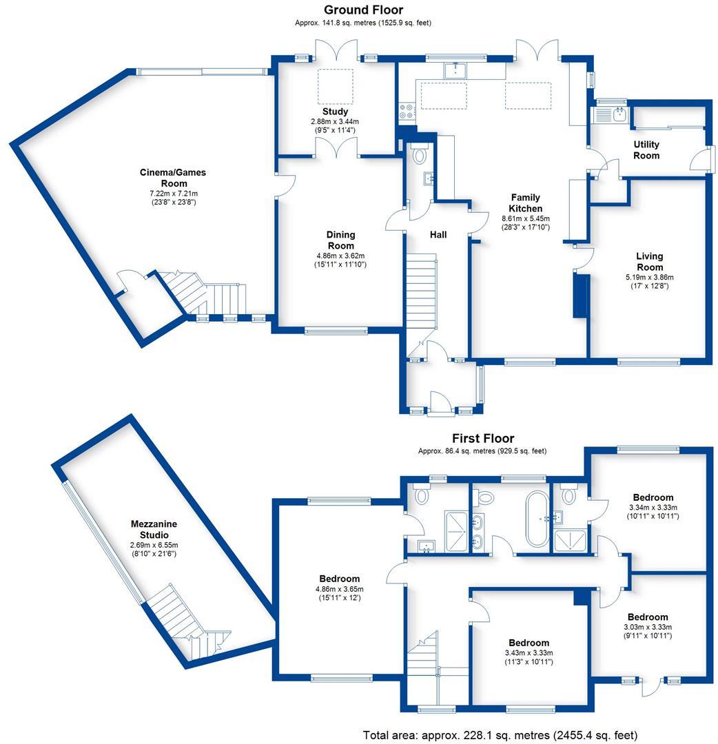 Warwick Castle Floor Plan Hill Close Leamington Spa Cv32 4 Bedroom Detached House