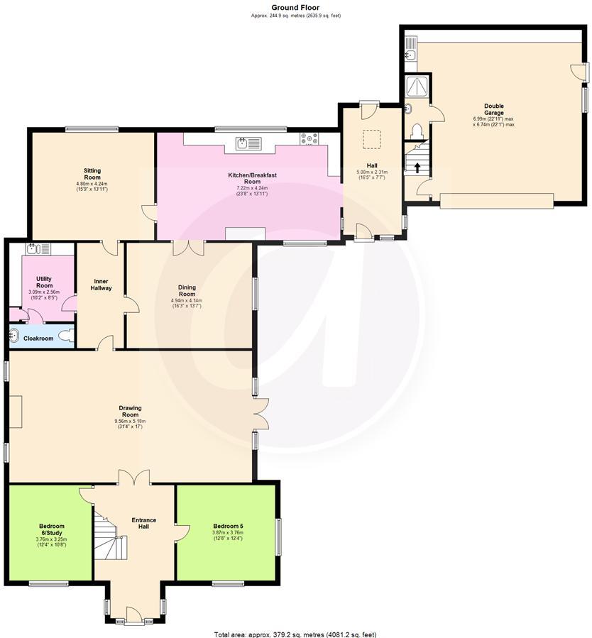 Church lane oakley bedford mk43 6 bedroom detached for 16 brookers lane floor plans
