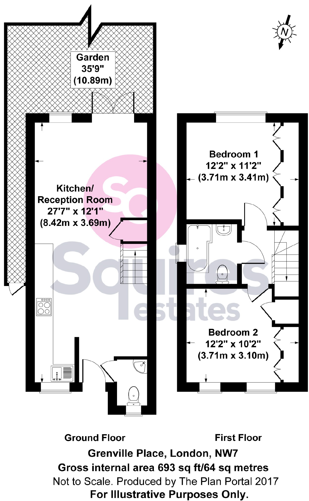 Grenville place mill hill london nw7 2 bedroom end for 11242 mill place terrace