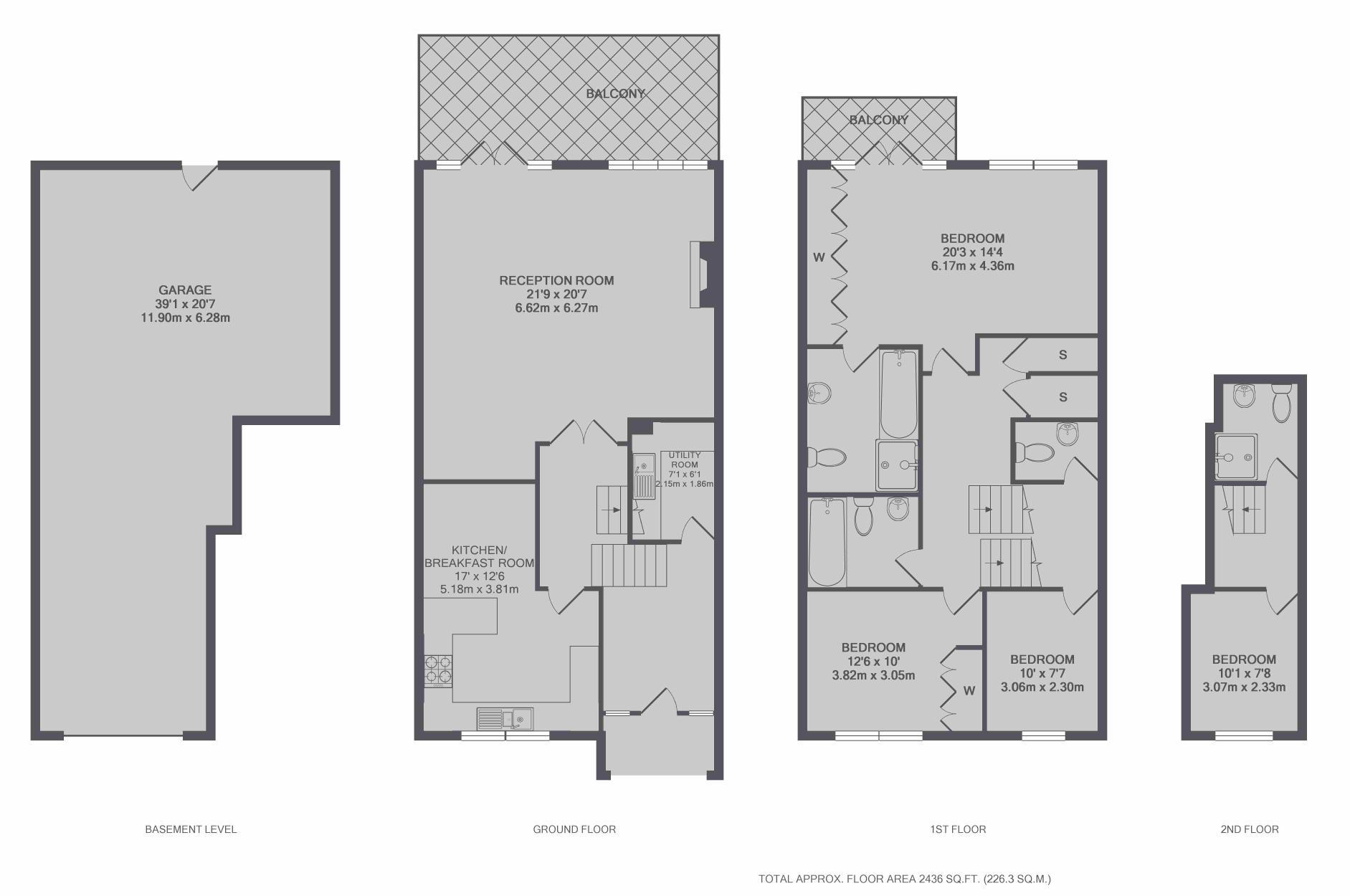 The Riverside, Graburn Way, East Molesey KT8, 4 Bedroom