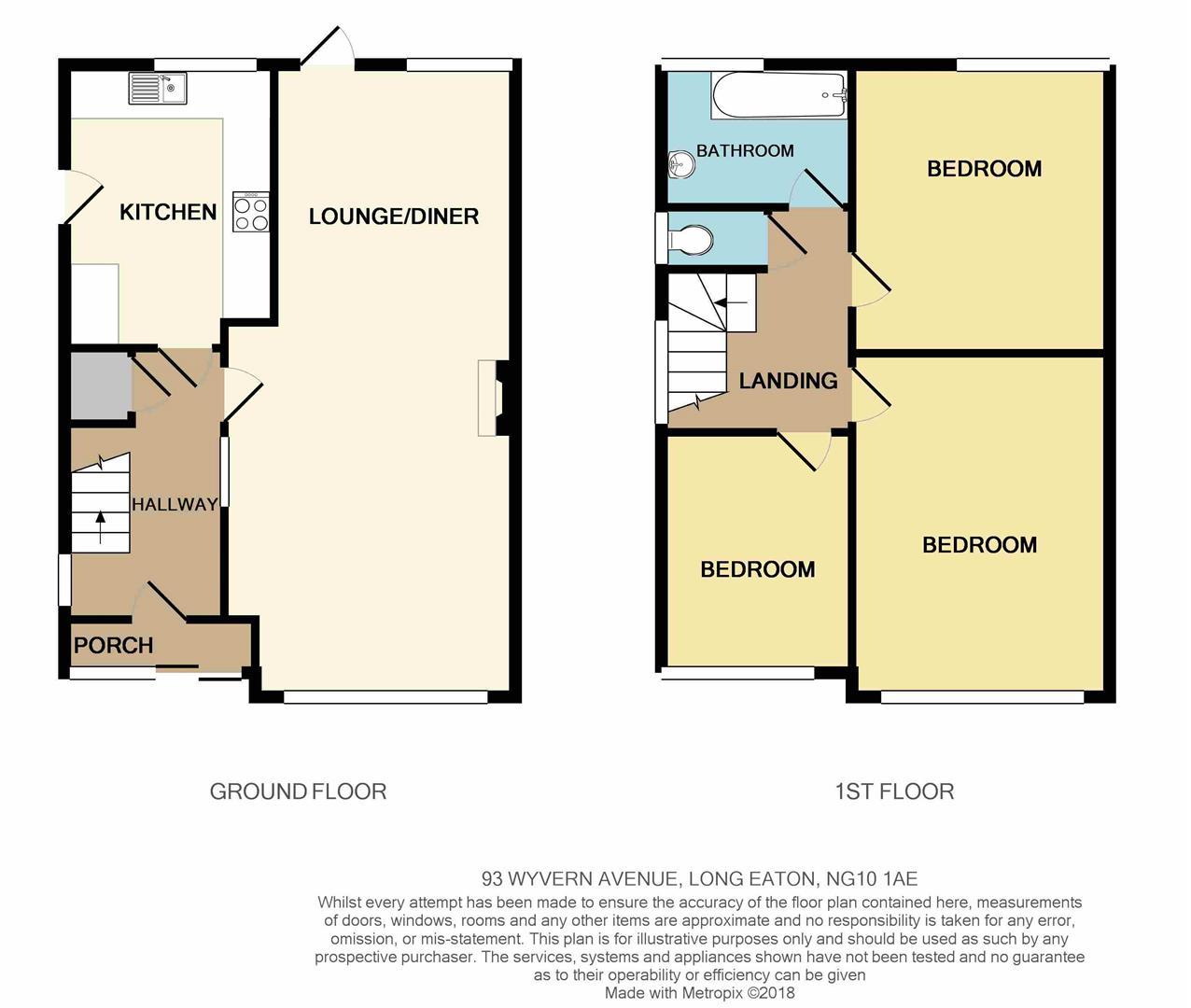 3 bed detached house for sale in wyvern avenue long eaton. Black Bedroom Furniture Sets. Home Design Ideas