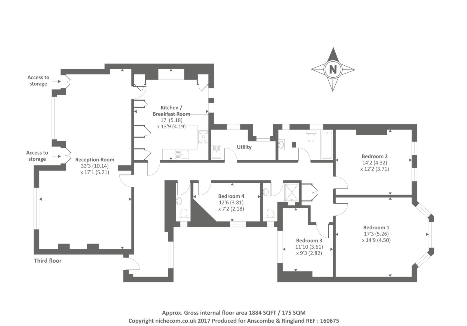 Marlborough mansions cannon hill west hampstead nw6 4 for Marlborough house floor plan