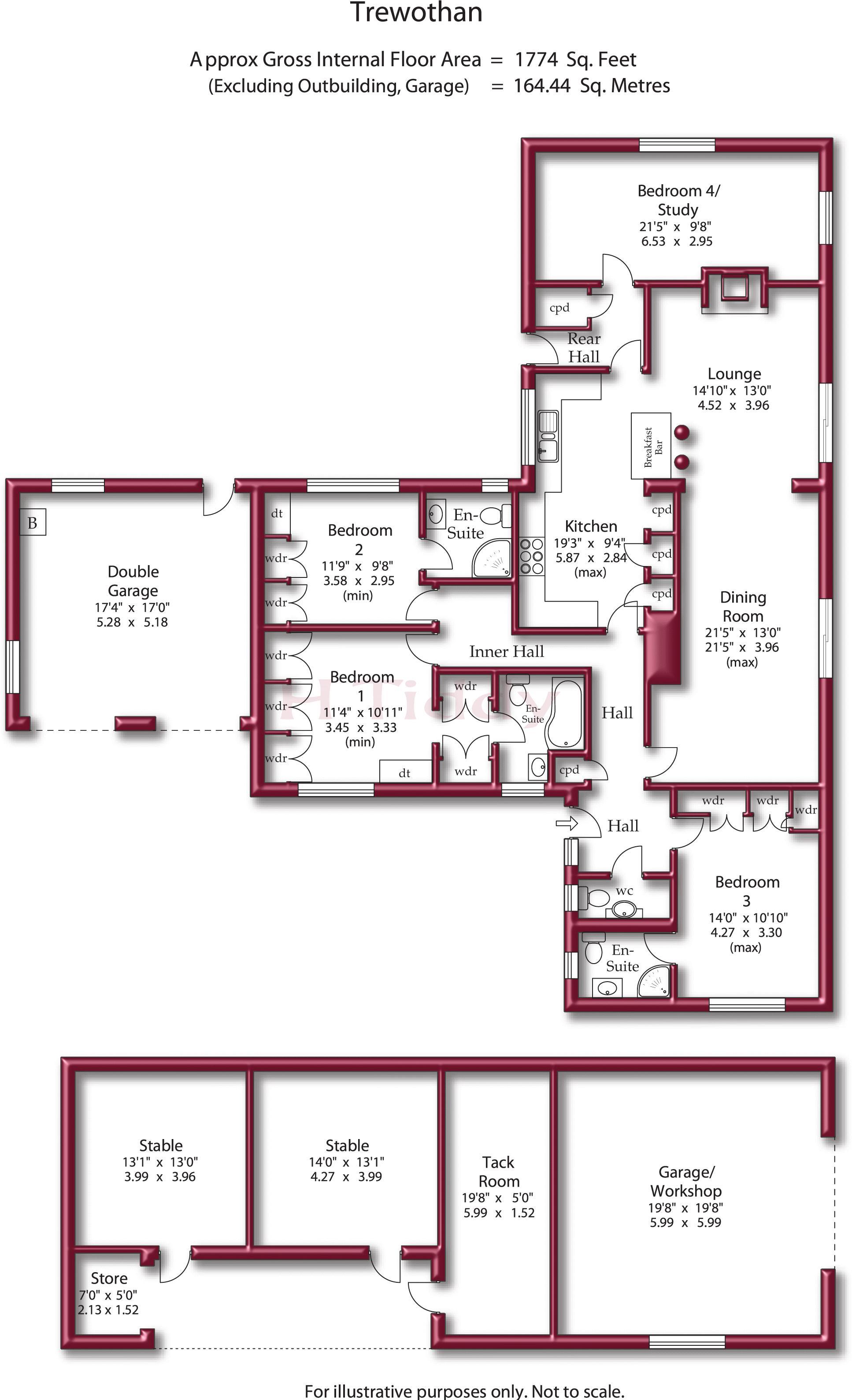 4 bedroom detached bungalow for sale 43627002 for Floor plan agreement