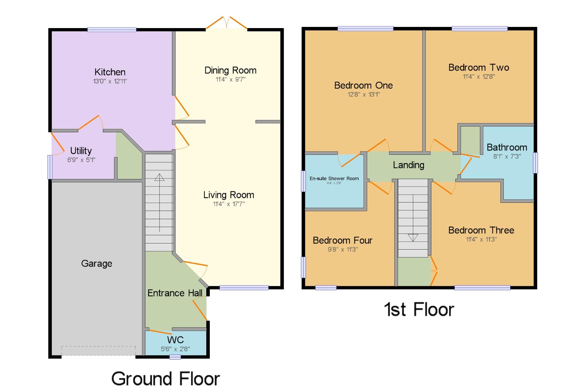 4 Bed Detached House For Sale In Ffordd Trem Y Foel Mold