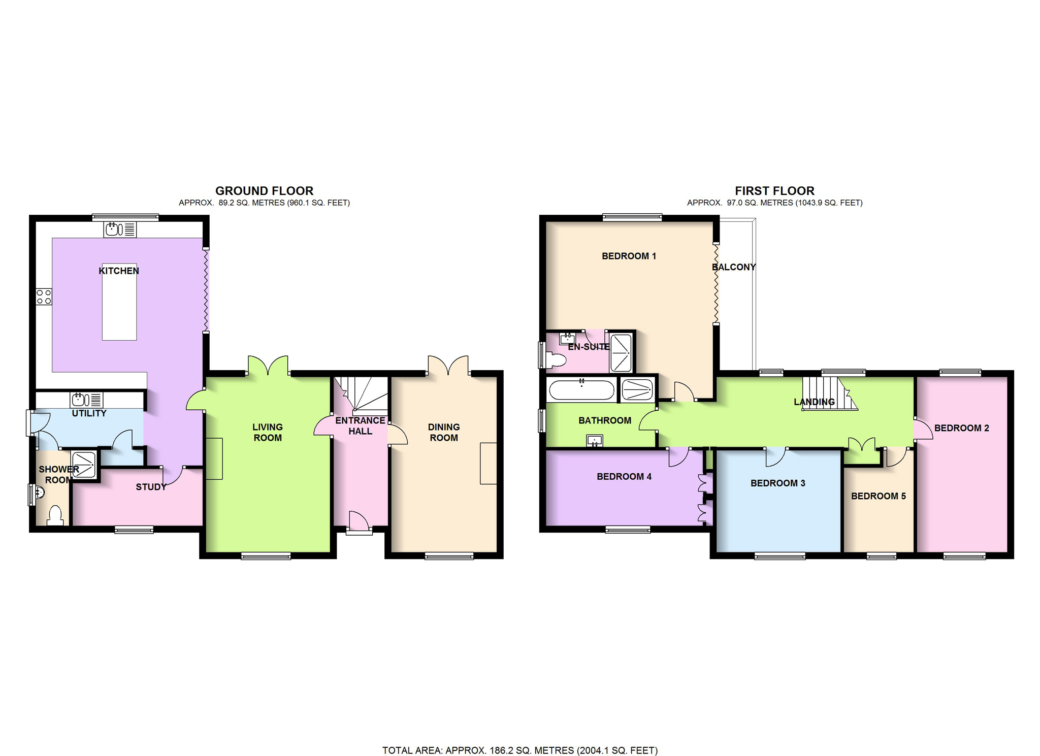 Carey close oxford oxfordshire ox2 5 bedroom detached for Oxford floor plan