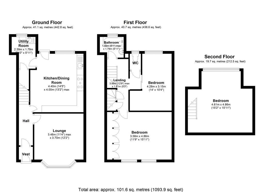 Newall Street Littleborough Ol15 3 Bedroom Terraced