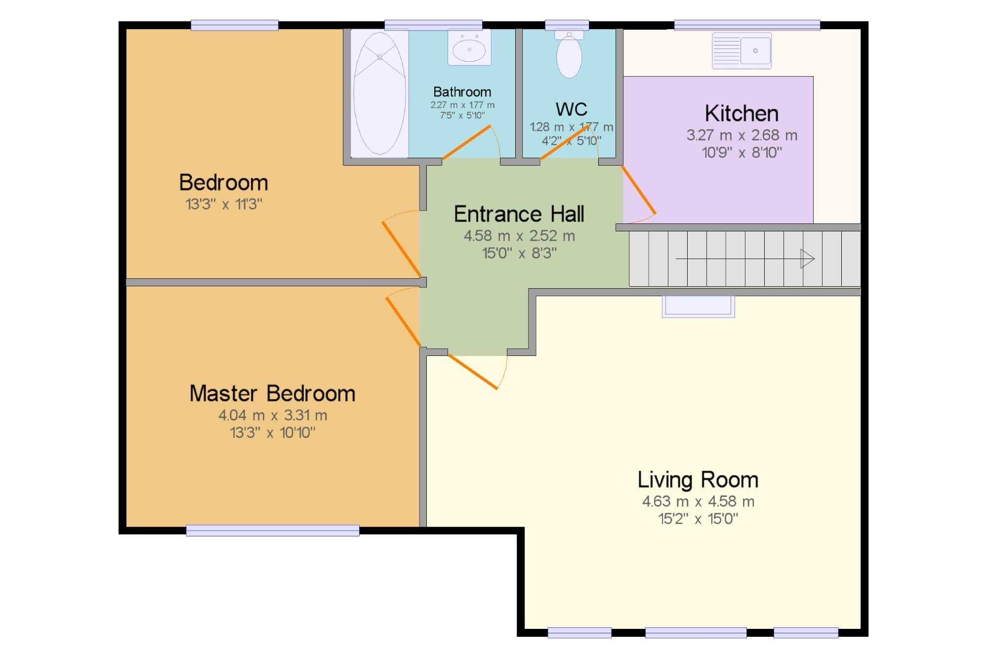 2 bedroom maisonette for sale 45735924 primelocation for 2b cuisine epsom downs