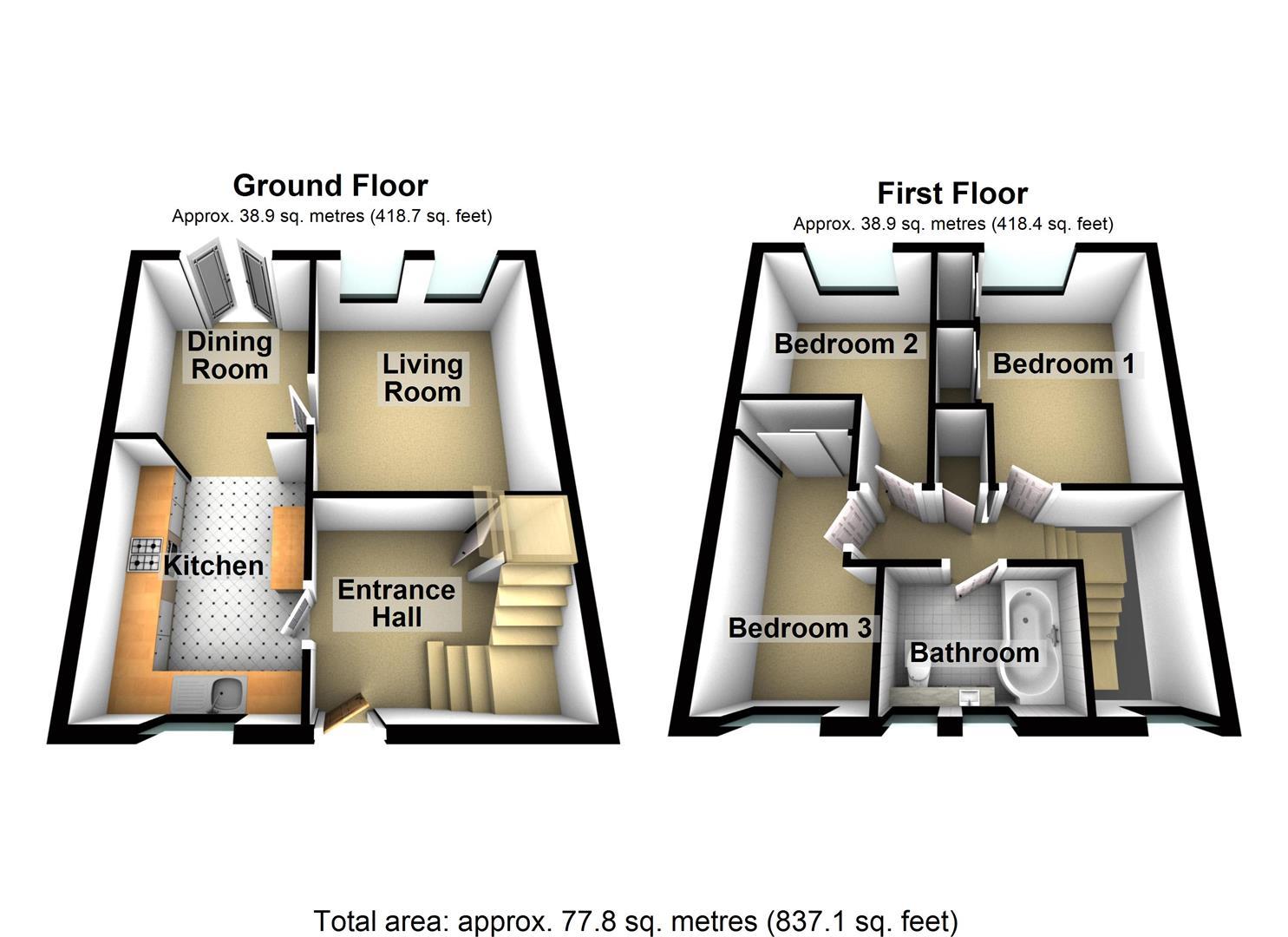 Ingra Walk Roborough Plymouth Pl6 3 Bedroom Terraced