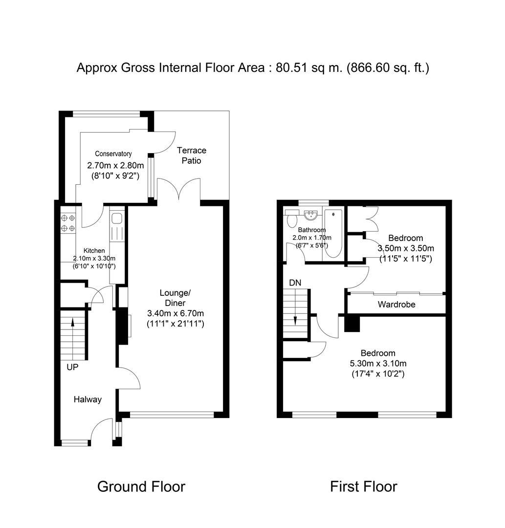 Long Readings Lane Slough Sl2 2 Bedroom Terraced House