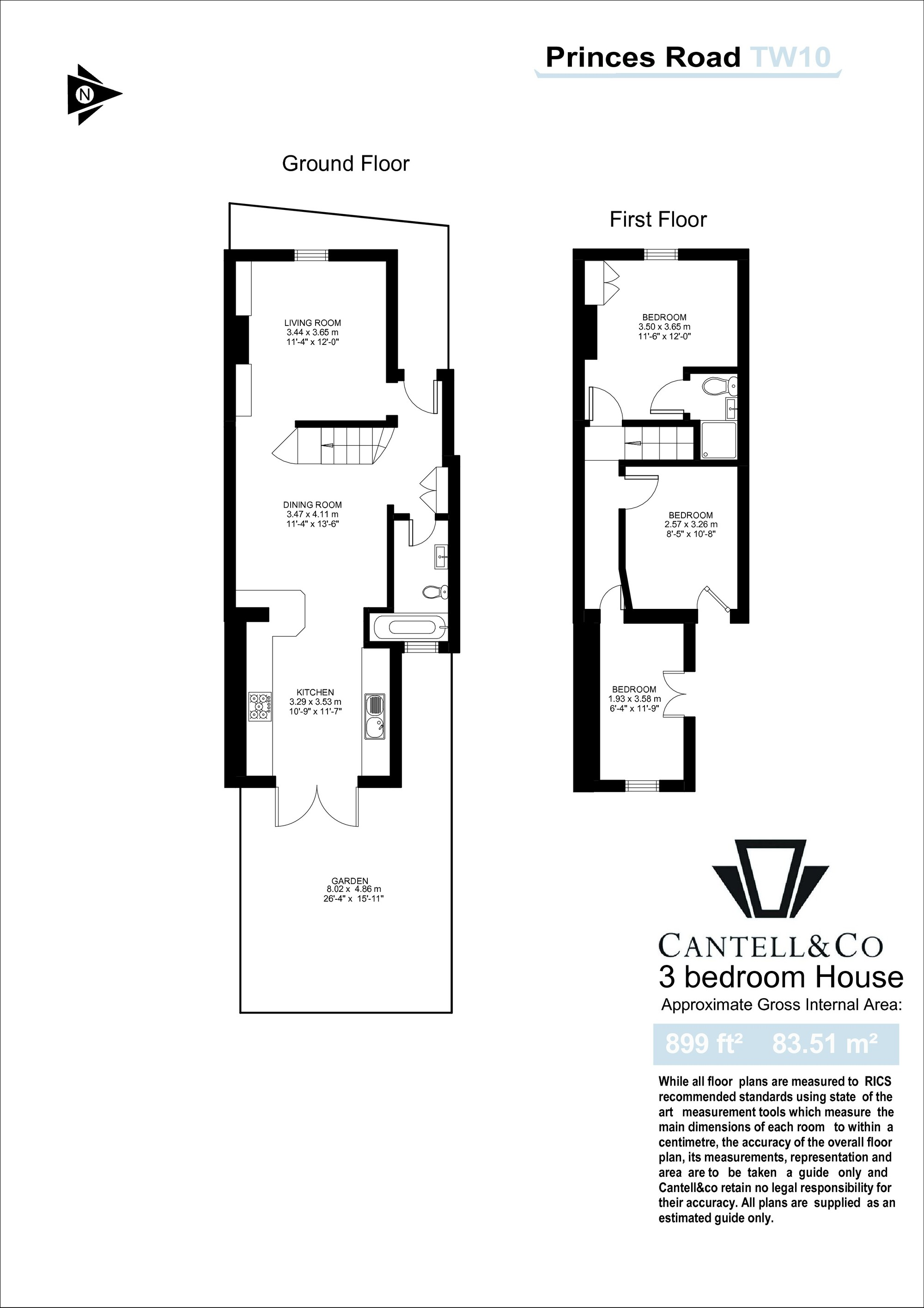 Princes Road Richmond Tw10 3 Bedroom Semi Detached House