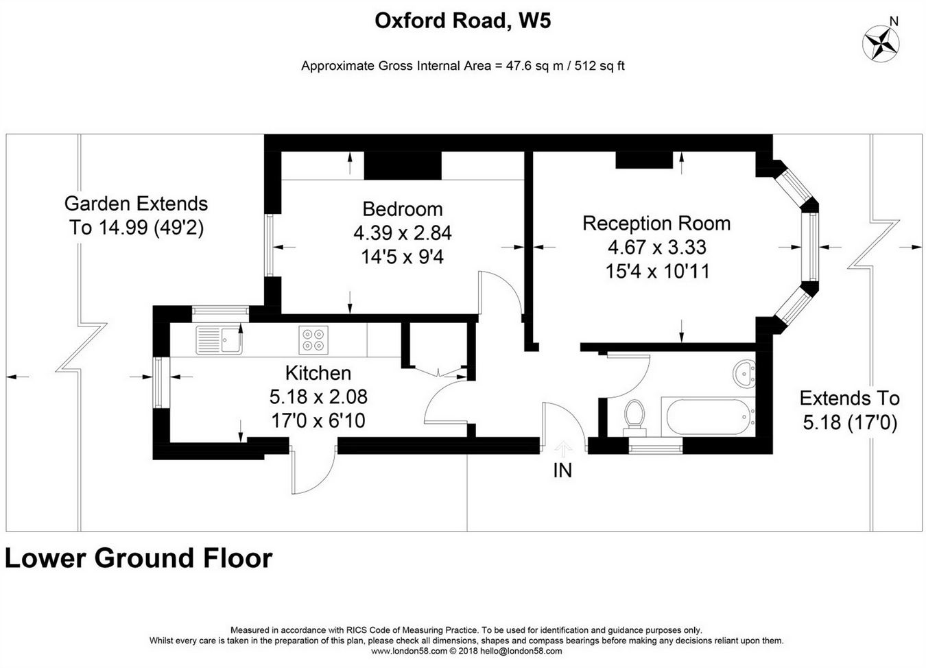 1 Bedrooms Flat for sale in Oxford Road, London W5