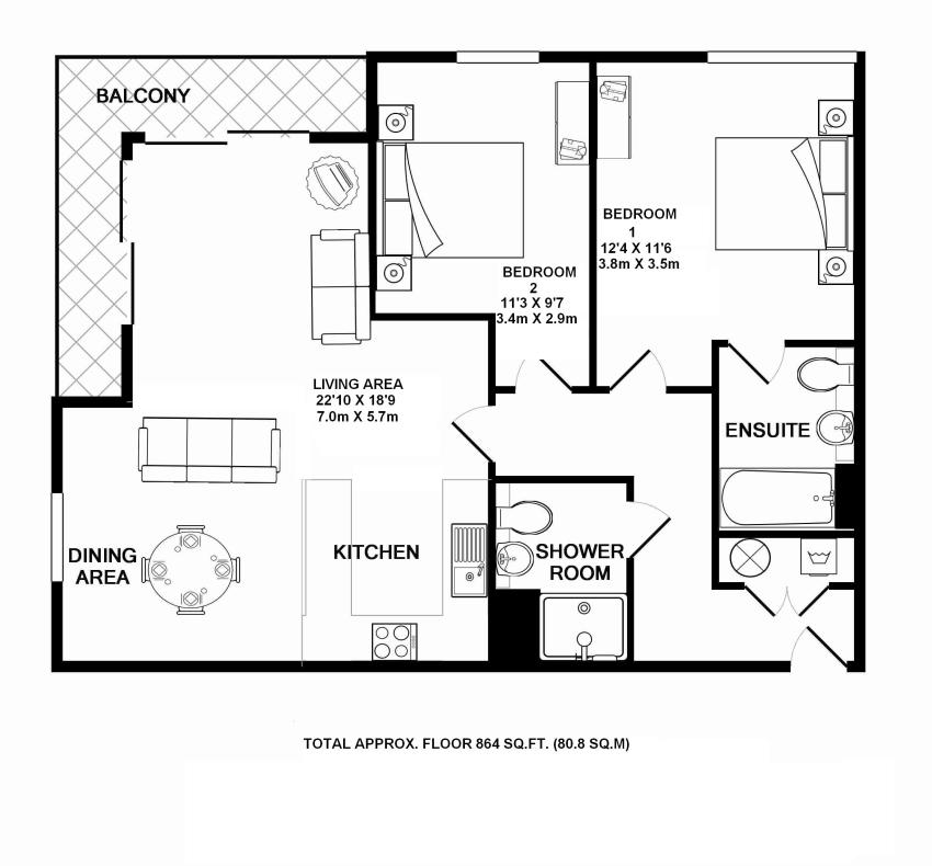 Heronsgate Primary School: 2 Bedroom Flat For Sale - 45256368