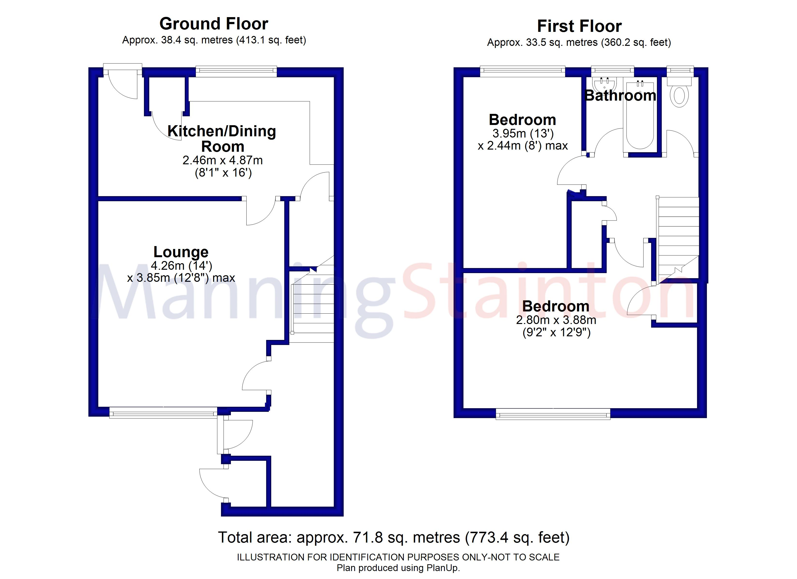 2 Bedrooms Town house for sale in Poplar Rise, Leeds, West Yorkshire LS13