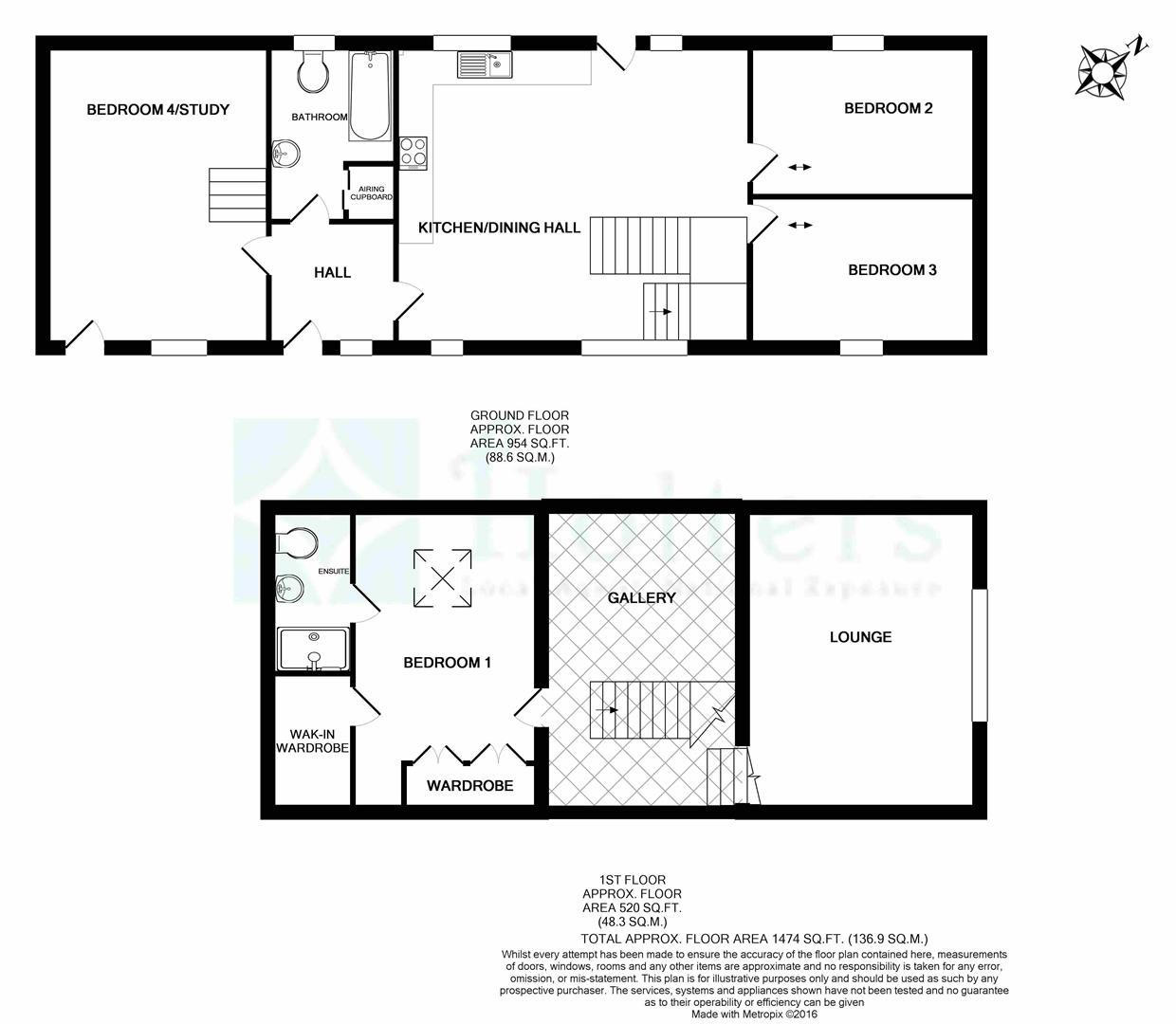 3 bedroom detached house for sale 42401361 primelocation for Barn conversion floor plans