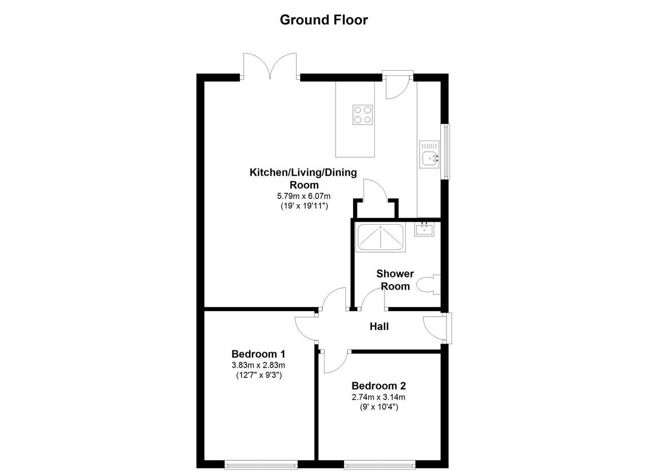 bridle drive  clapham  bedford mk41  2 bedroom bungalow for sale