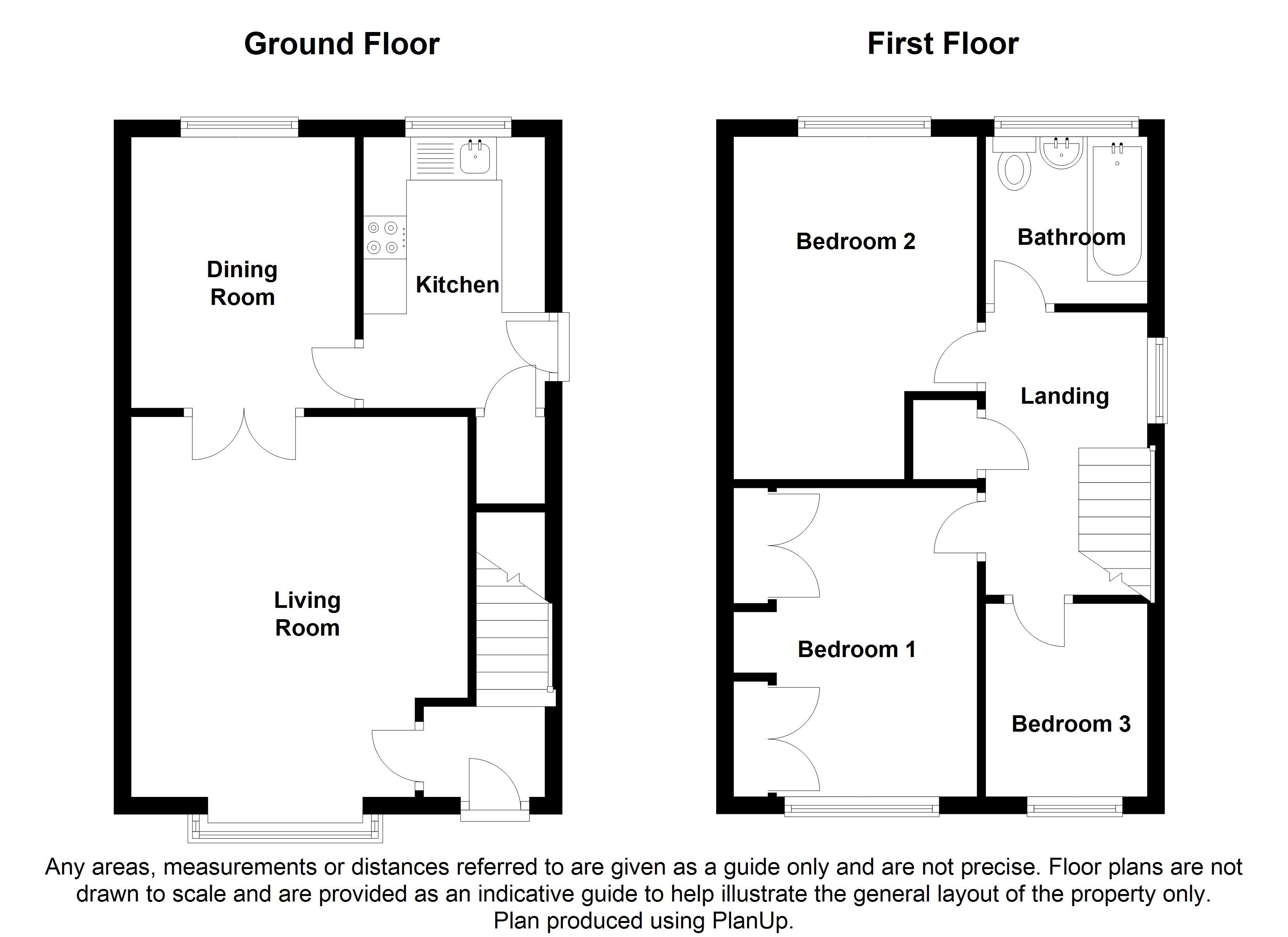 Oldale grove sheffield s13 3 bedroom detached house for for Sheffield floor plan