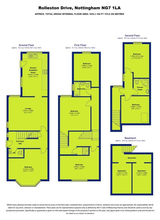 Rolleston drive lenton nottingham ng7 6 bedroom semi for Food bar rolleston
