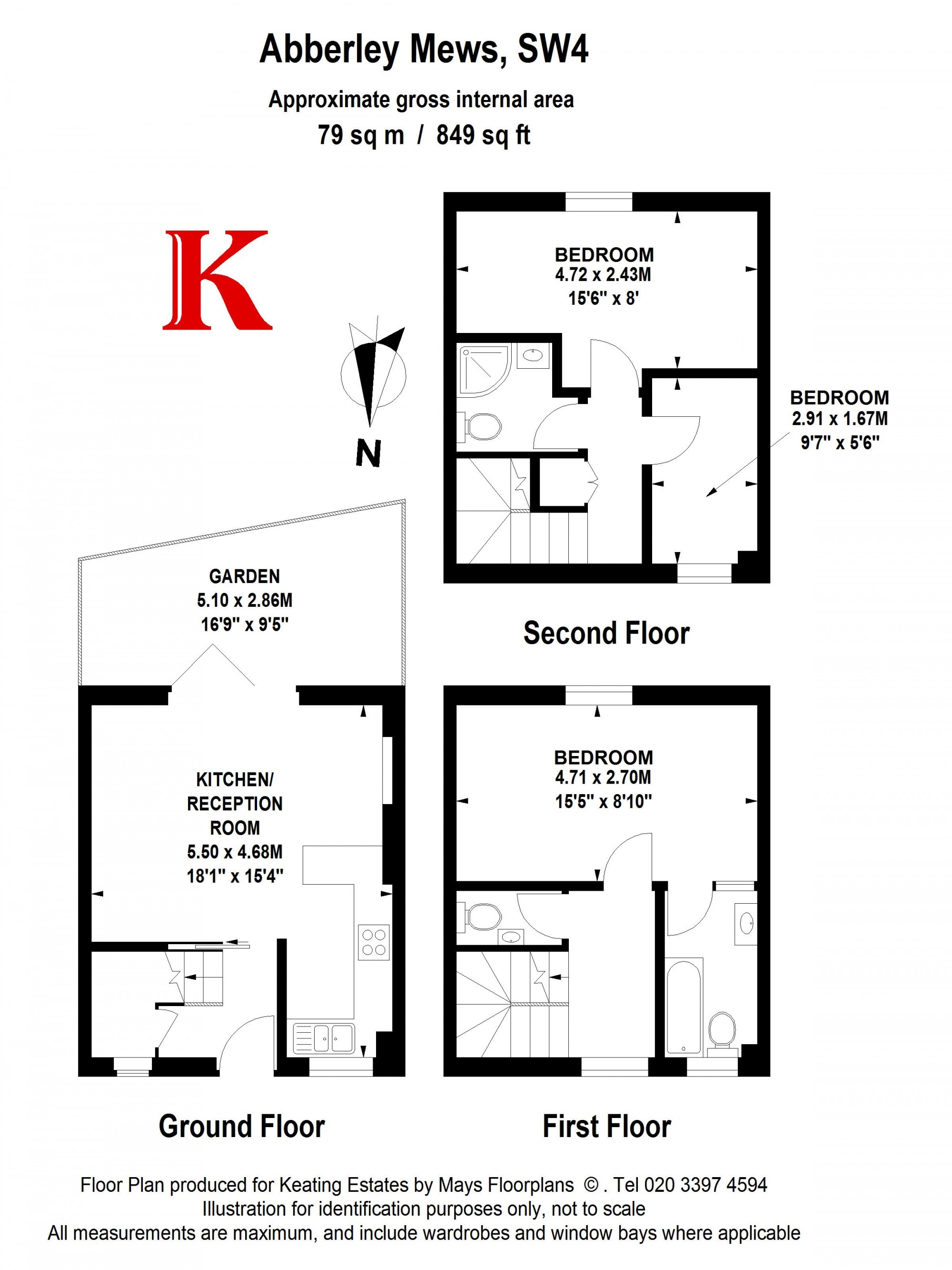 3 bedroom mews house for sale 42551368 primelocation for 15 bruyeres mews floor plans