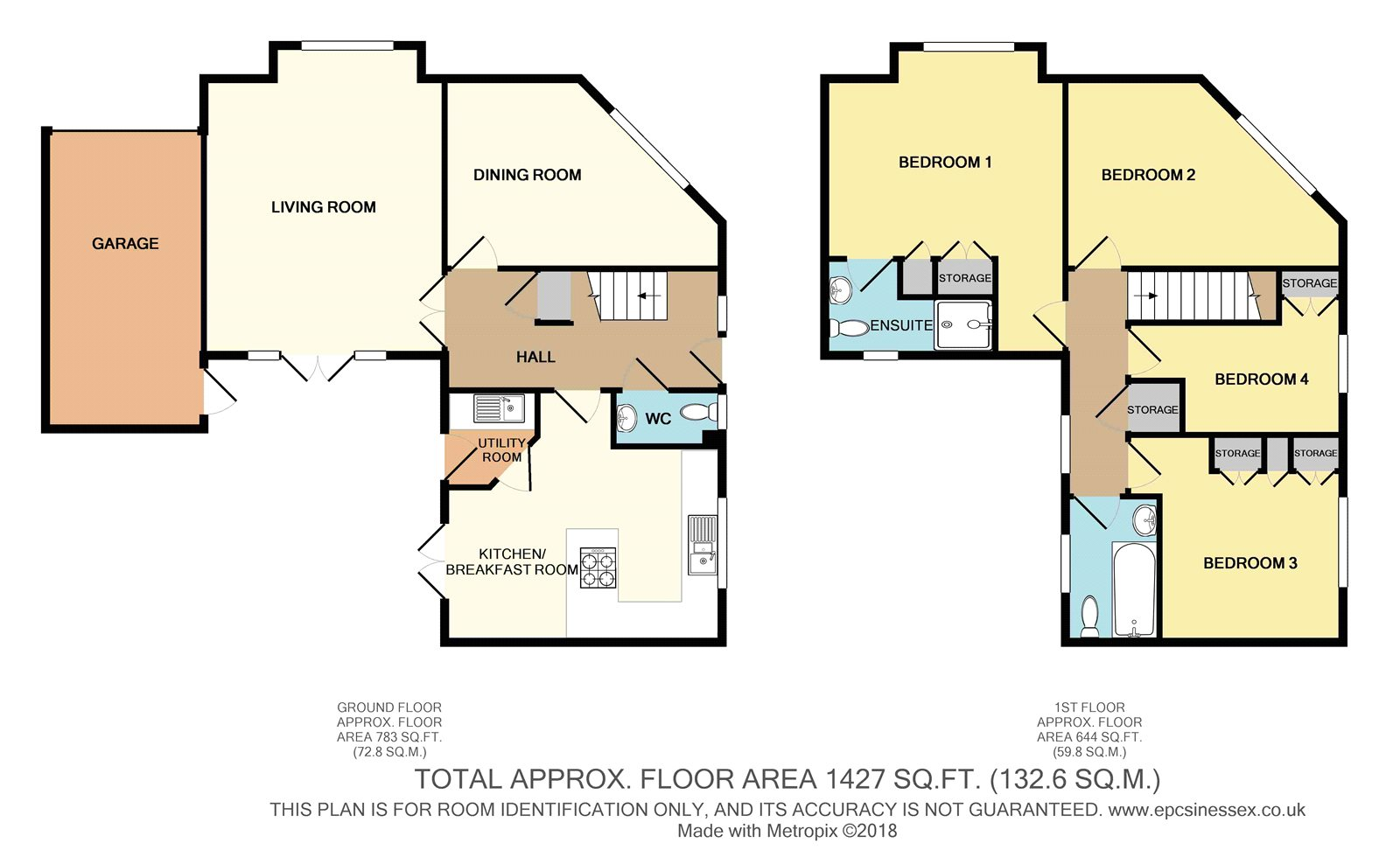 4 Bed Detached House For Sale In Walter Mead Close Ongar