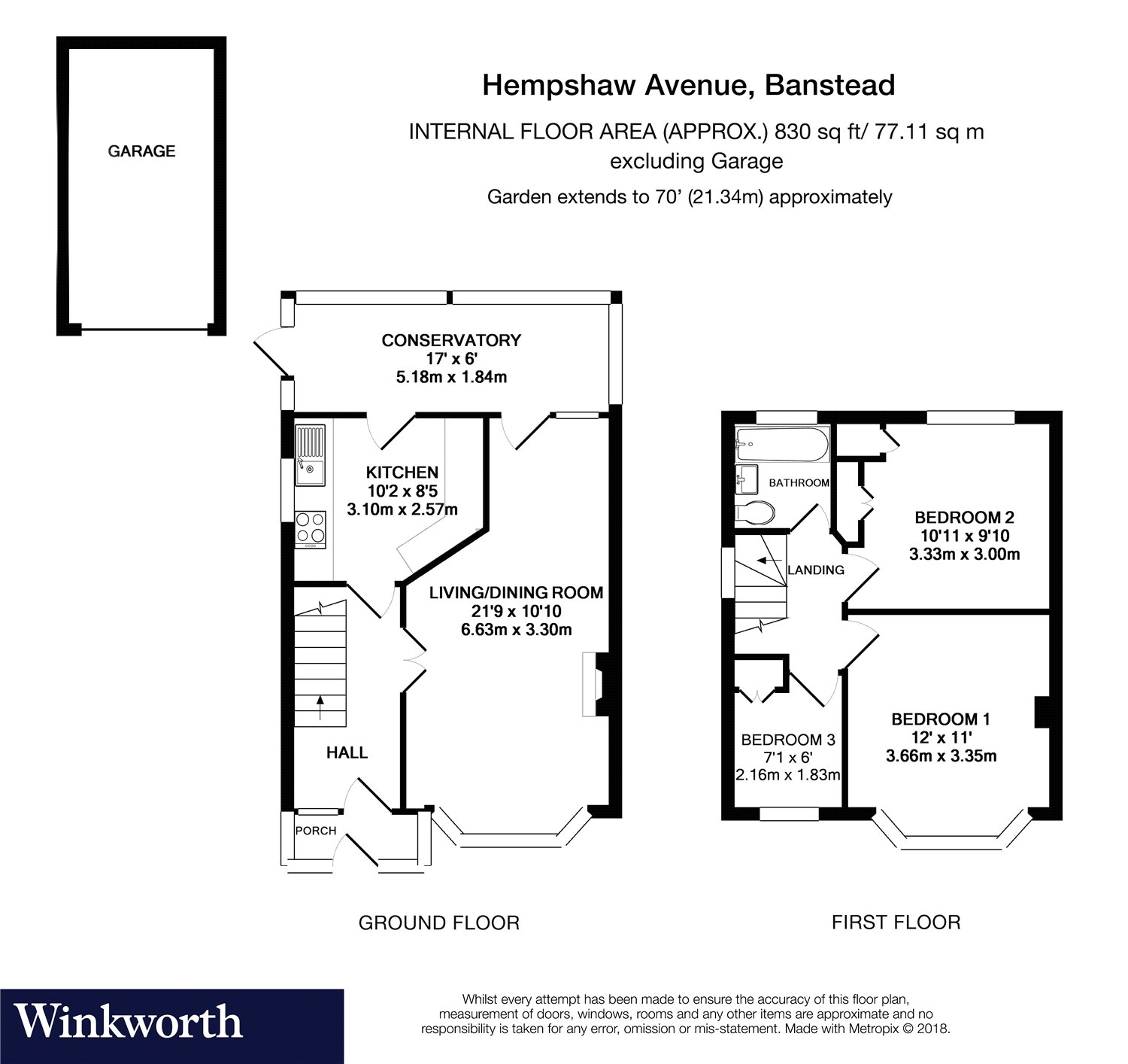 3 Bedrooms Semi-detached house for sale in Hempshaw Avenue, Banstead, Surrey SM7