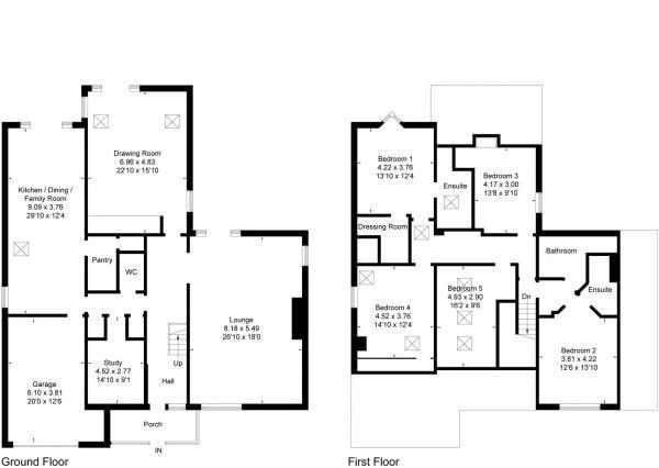 Vicarage lane burton cheshire ch64 5 bedroom detached for 16 brookers lane floor plans