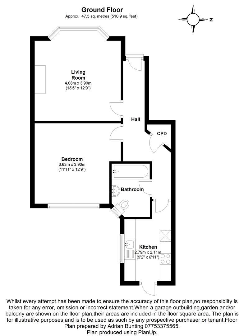 Beresford Gardens Enfield En1 1 Bedroom Maisonette For