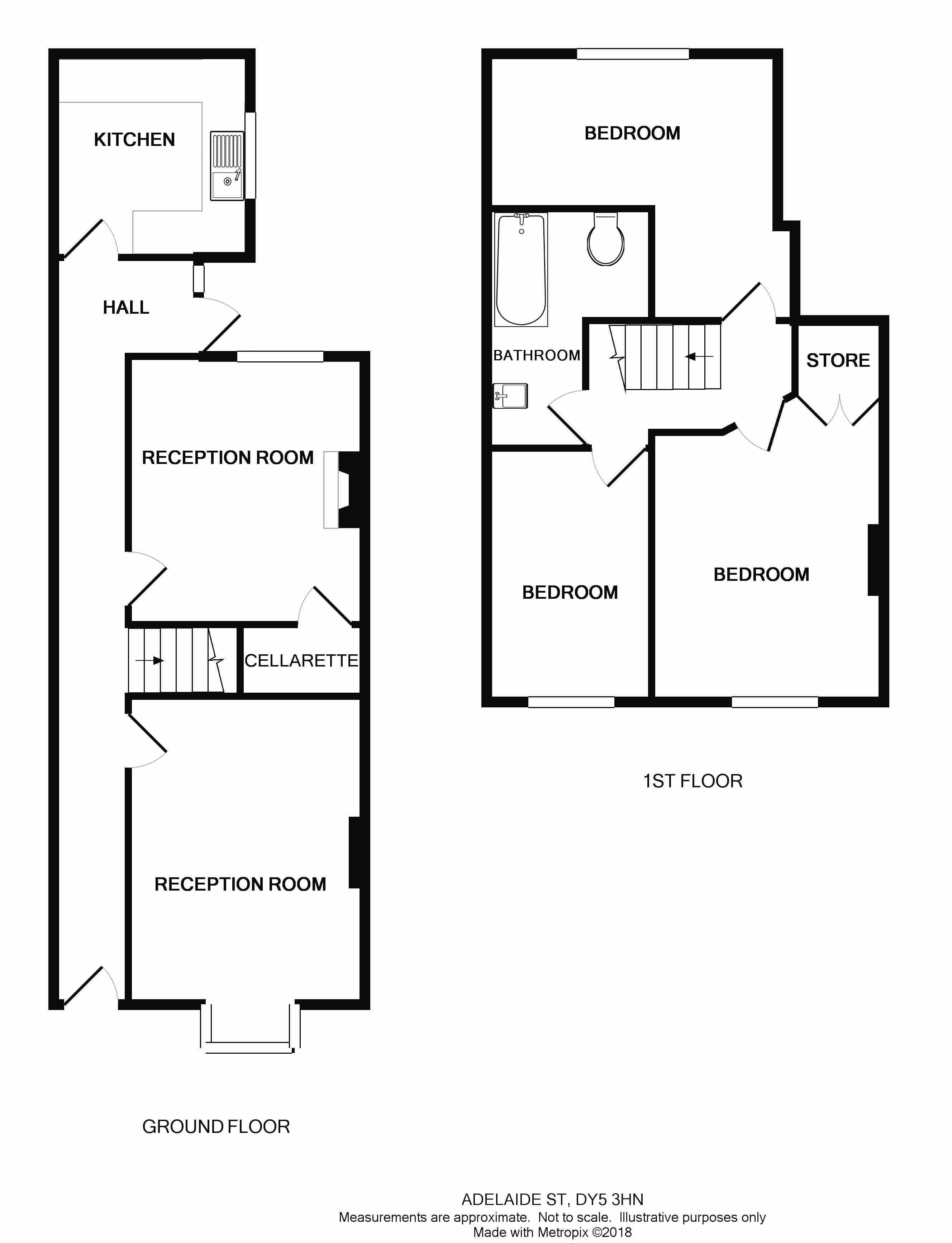 adelaide street  brierley hill dy5  3 bedroom terraced