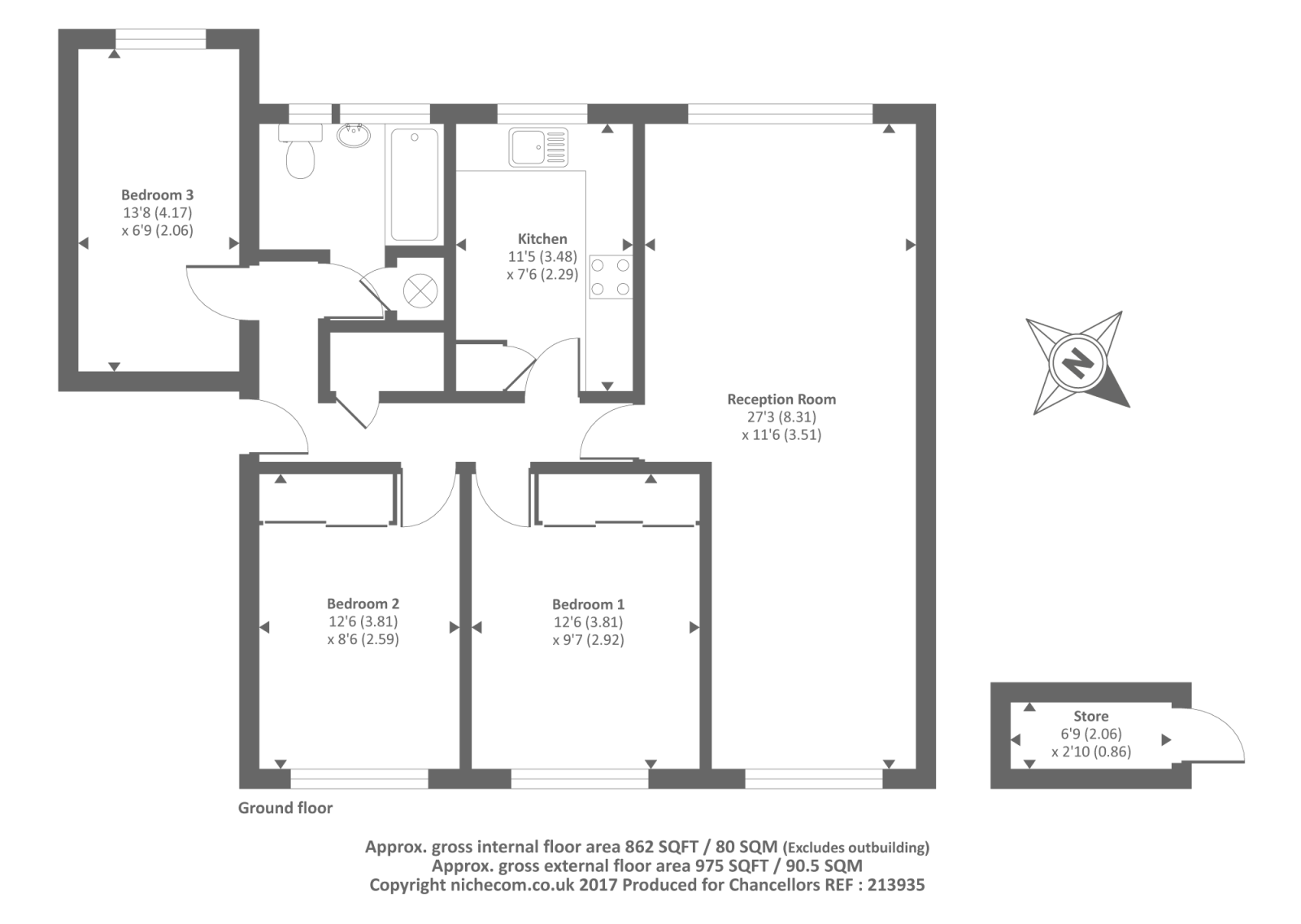 Hemel hempstead herts hp2 3 bedroom maisonette for sale for 101 richmond floor plans
