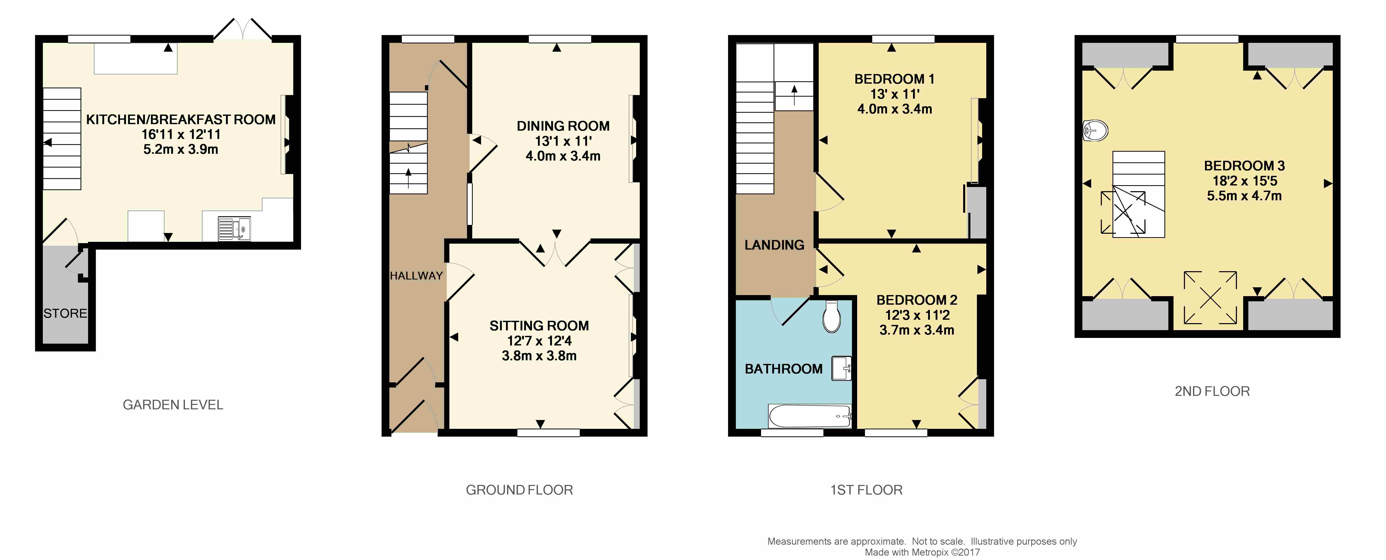 Beaumont Place St Judes Plymouth Pl4 3 Bedroom Terraced