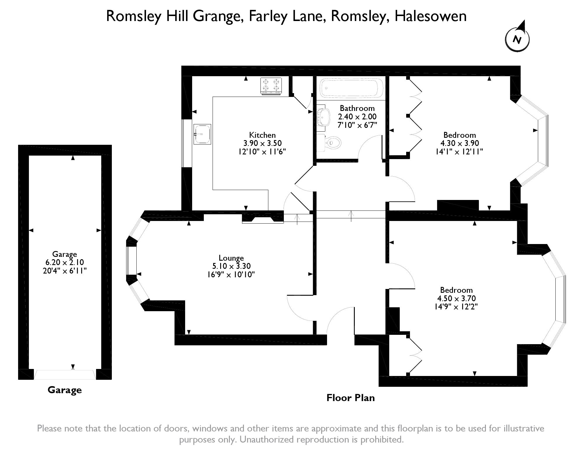 2 bed flat for sale in flat  romsley hill grange  farley lane  romsley  halesowen b62