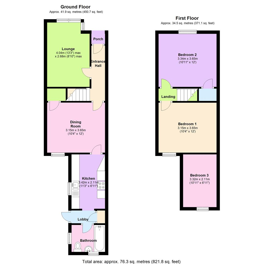 Cranbury road reading rg30 3 bedroom terraced house for for Reading a floor plan