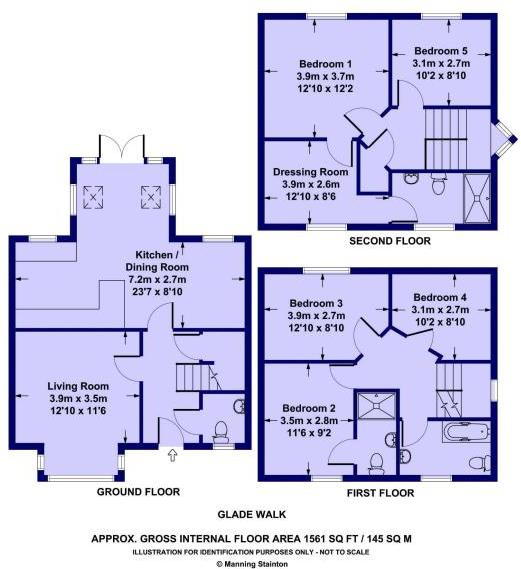 5 Bedrooms Detached house for sale in Glade Walk, Leeds LS10