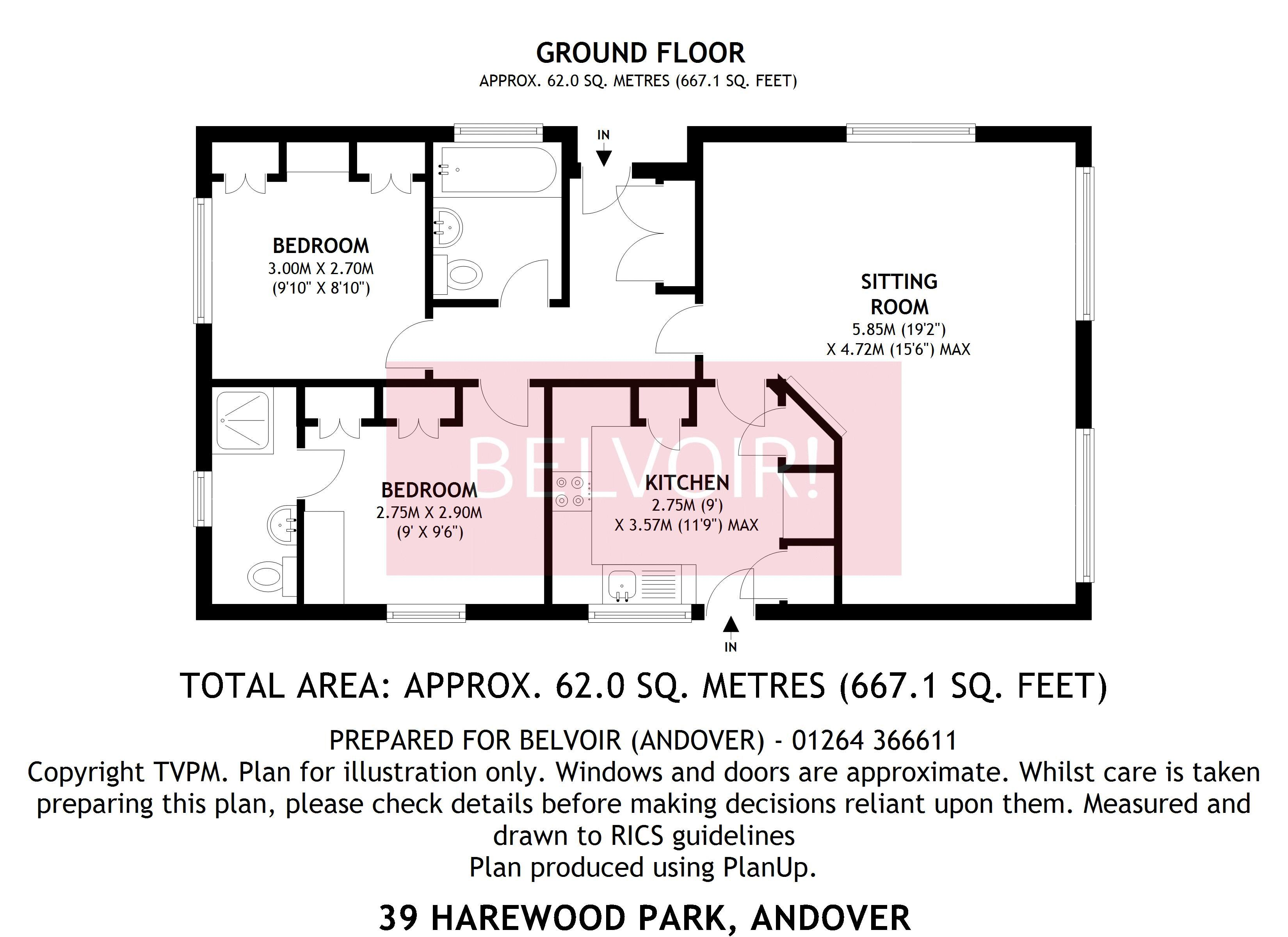 2 bed mobilepark home for sale in Harewood Park Andover Down – Harewood House Floor Plan