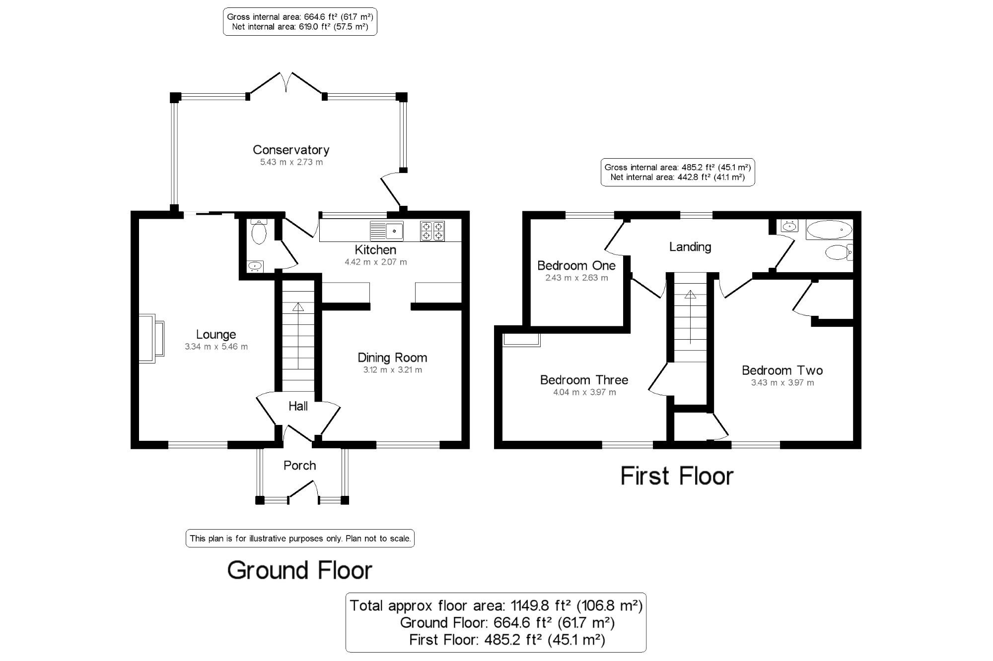 gross internal floor area and net internal floor area
