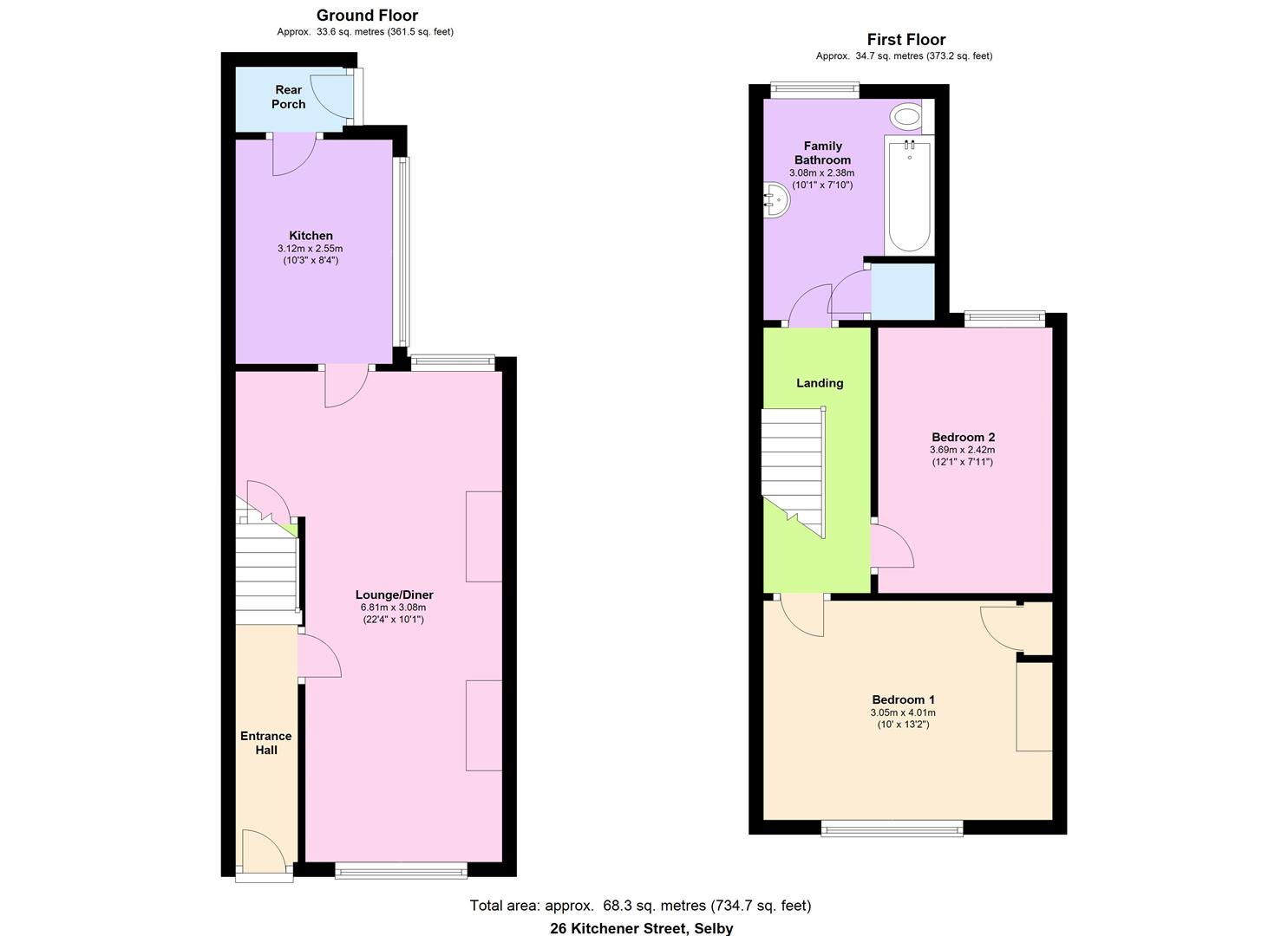 Kitchener street selby yo8 2 bedroom terraced house for for 3 kitchener street leeds