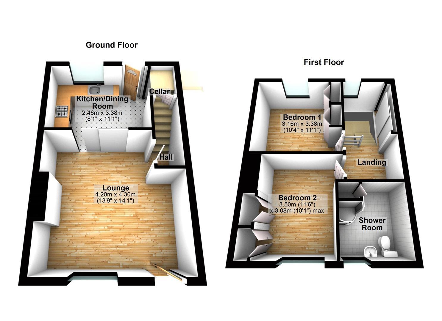 2 Bed Property For Sale In Diamond Street Moldgreen Huddersfield