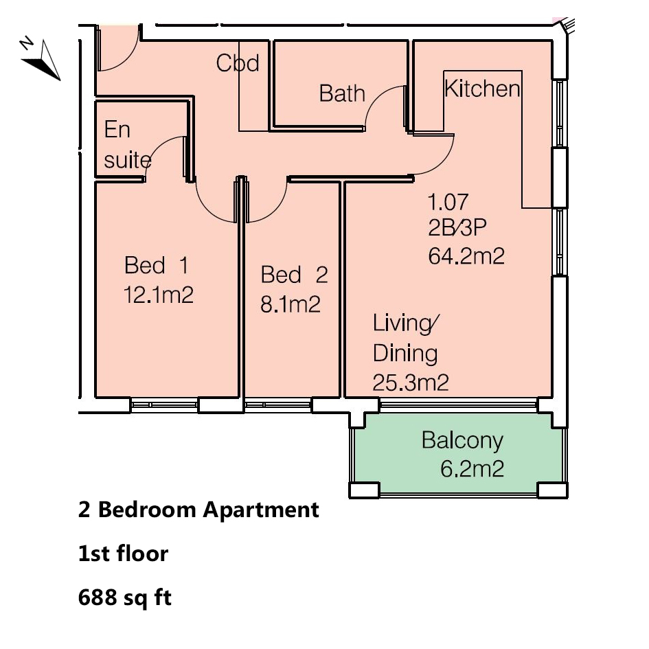 2 Bedroom Flat For Sale In Anayah Apartments 54b Trundleys Road Se8 London