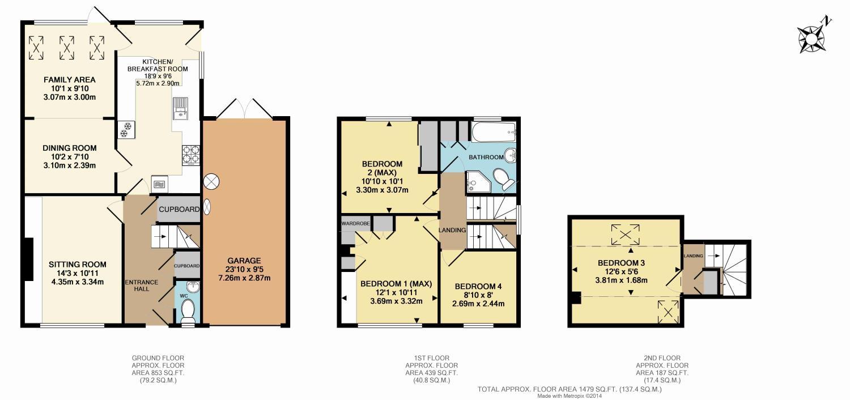 Lechford Road Horley Surrey Rh6 4 Bedroom Semi Detached