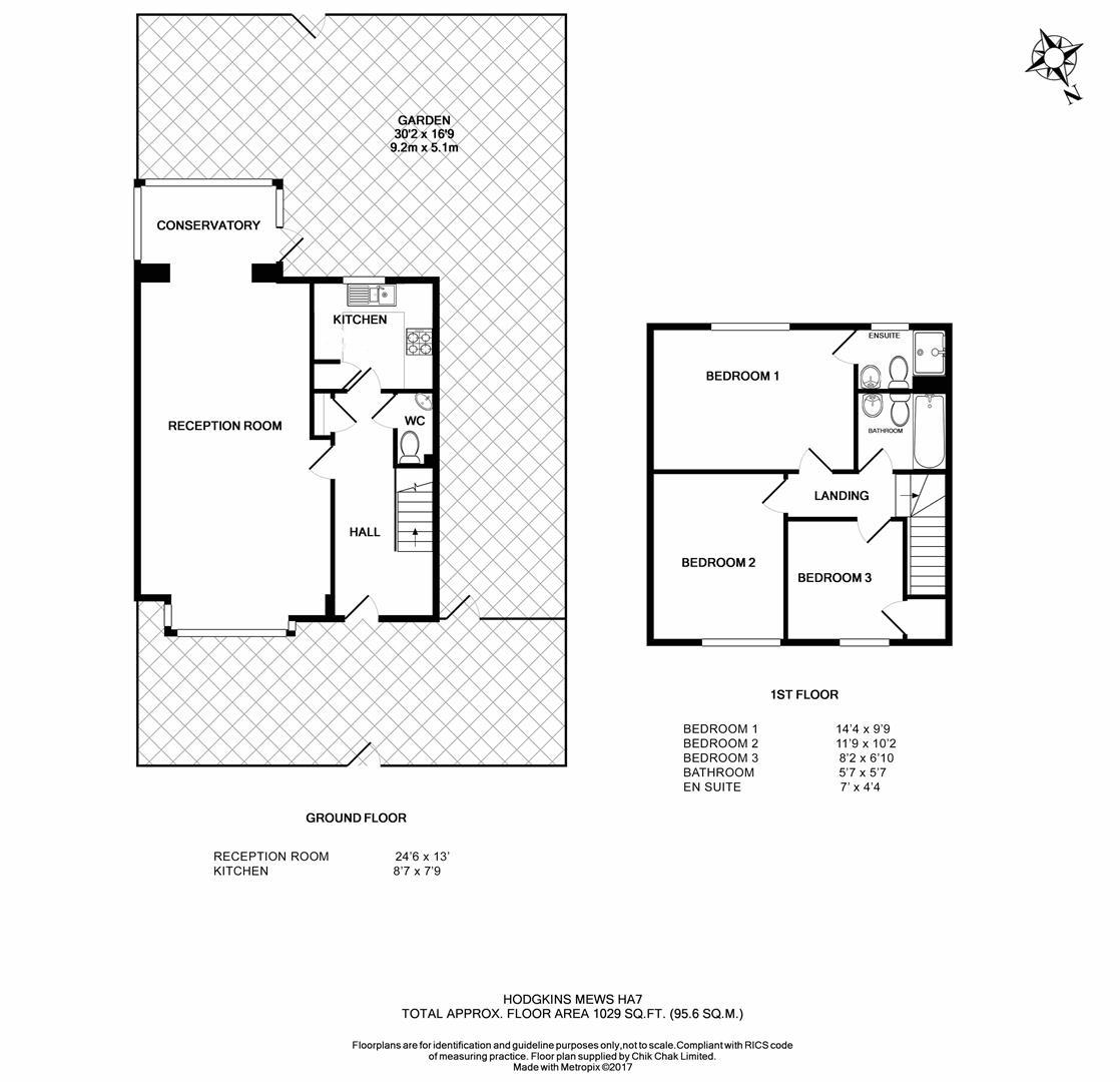 Hodgkins Mews, Stanmore HA7, 3 Bedroom End Terrace House