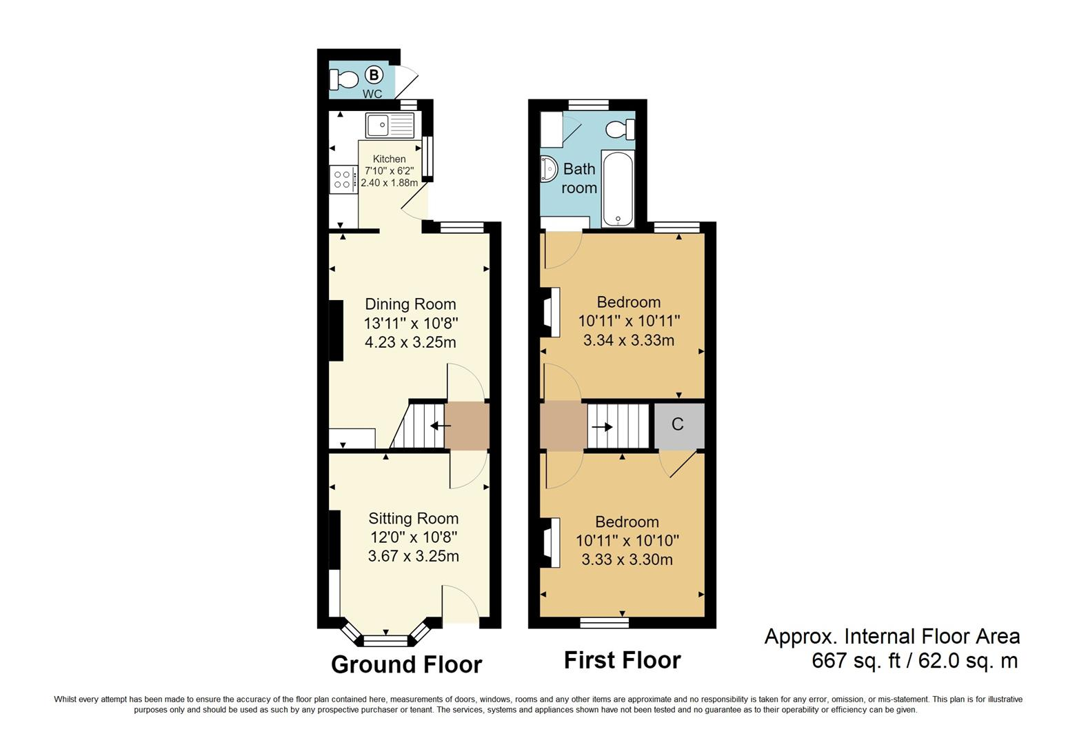 2 Bed Terraced House For Sale In Houselands Road Tonbridge Tn9 Zoopla Average Cost Of Rewiring A Floorplan 1